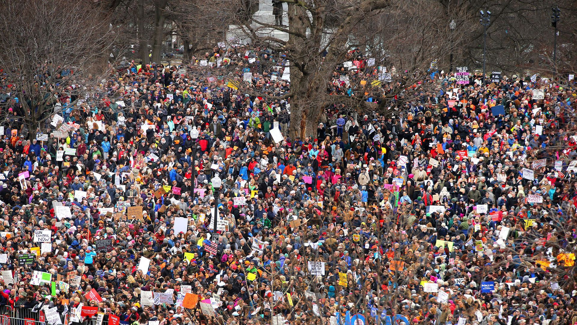 March For Our Lives at Boston Common on March 24 (John Tlumacki / Boston Globe via Getty Images)