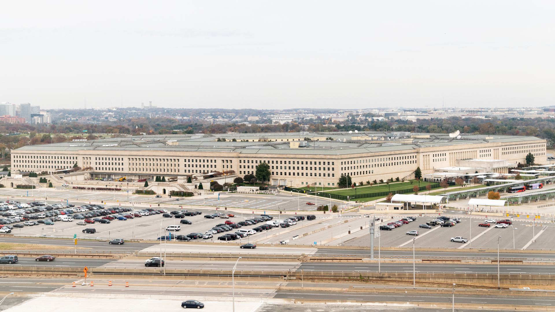 The Pentagon building from afar