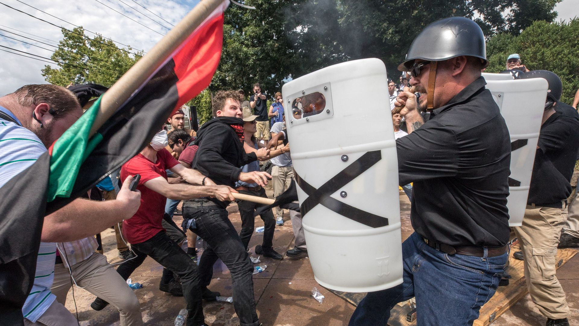 Fighting at Charlottesville rally