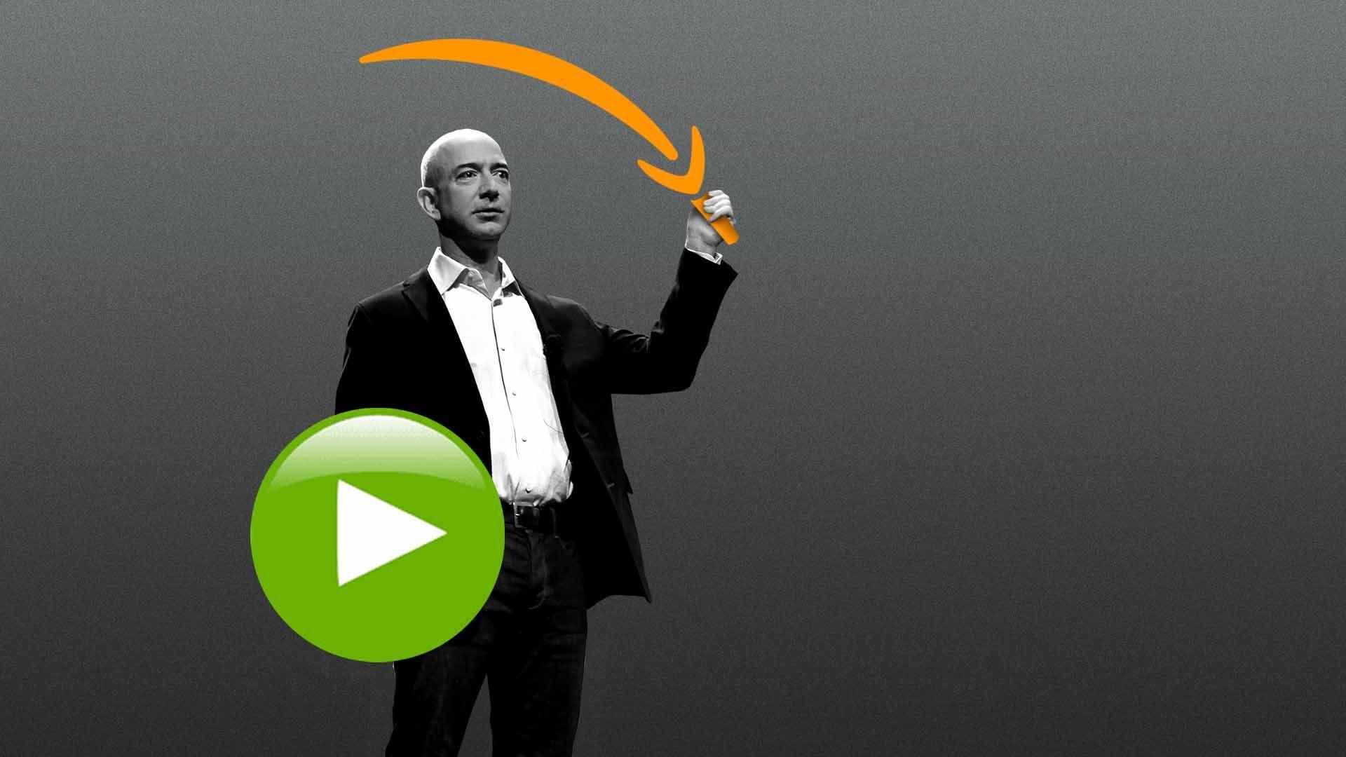 Illustration of Amazon CEO Jeff Bezos
