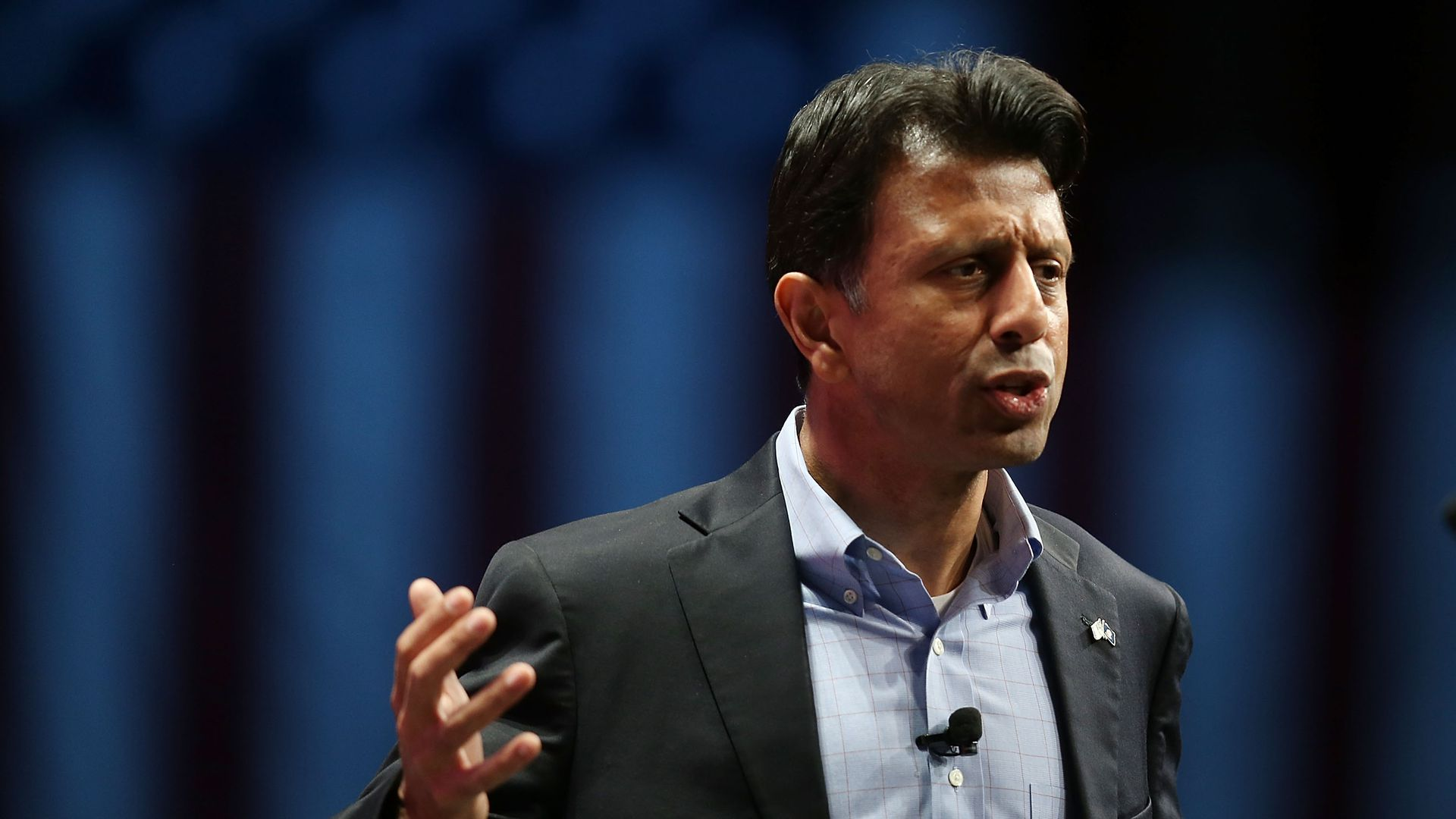 Bobby Jindal speaks during his run as a Republican presidential candidate.