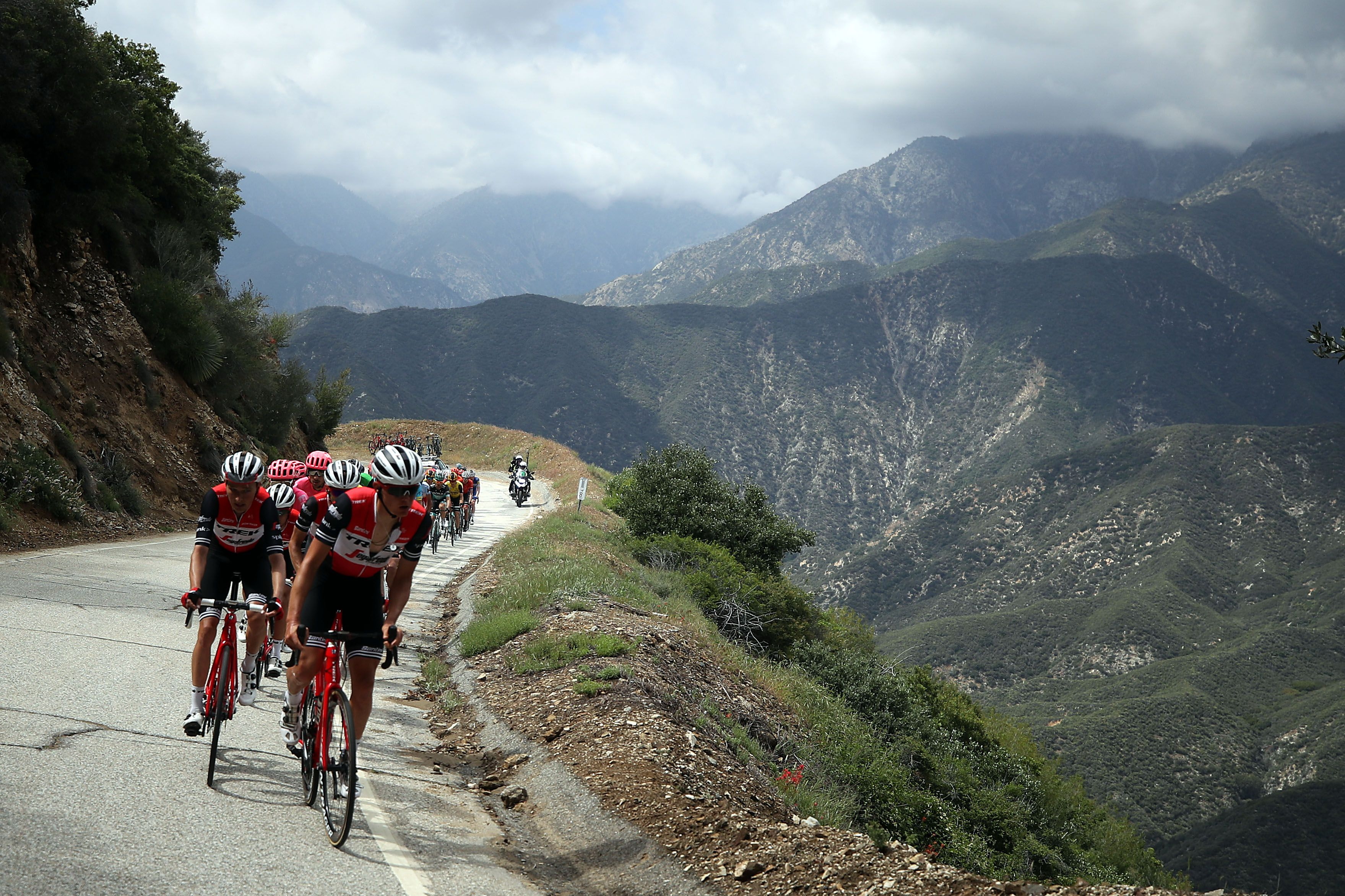 Riders during the Amgen Tour of California