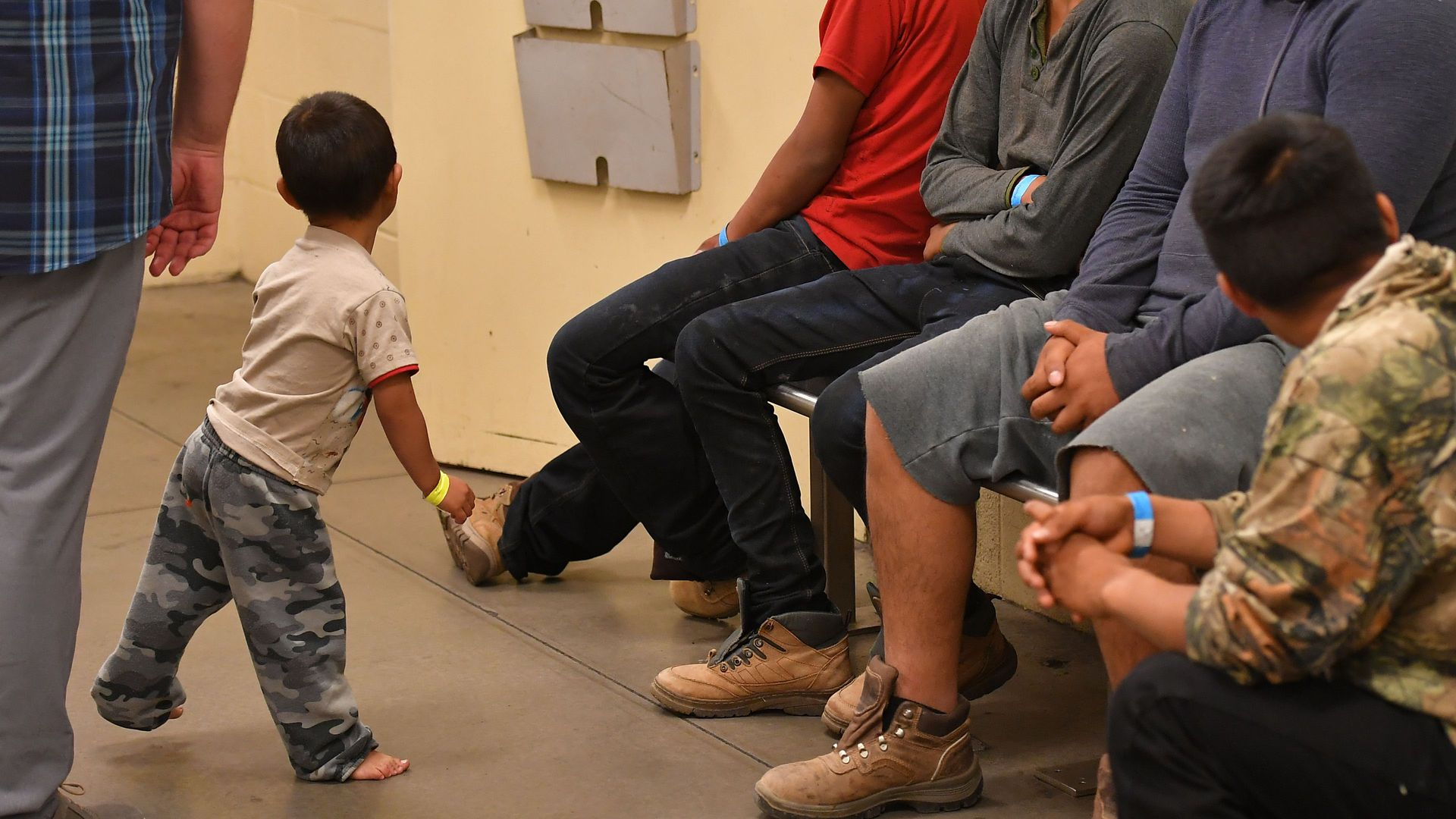 Young migrant children at a U.S. Customs and Border Protection Facility in Tucson, Arizona. Photo: Madel Ngan/AFP/Getty Images