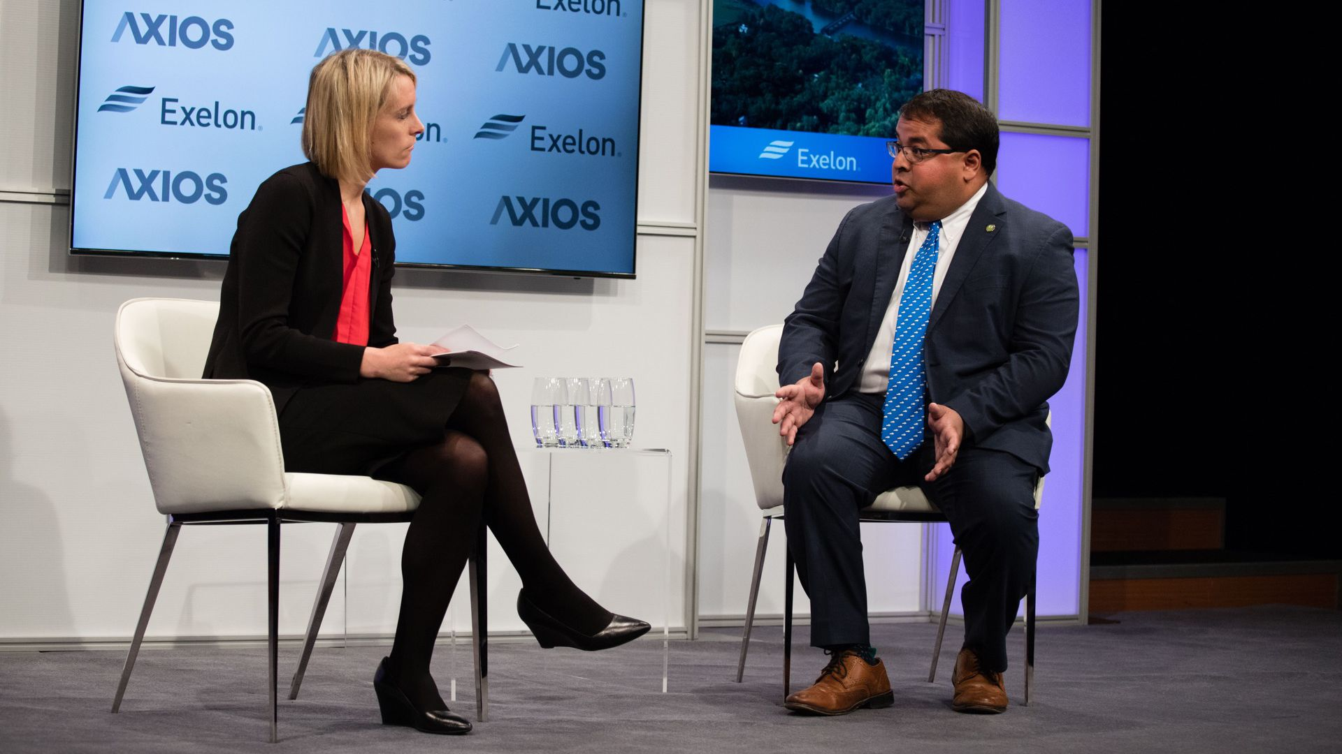 Axios' Amy Harder and FERC Commissioner Neil Chatterjee