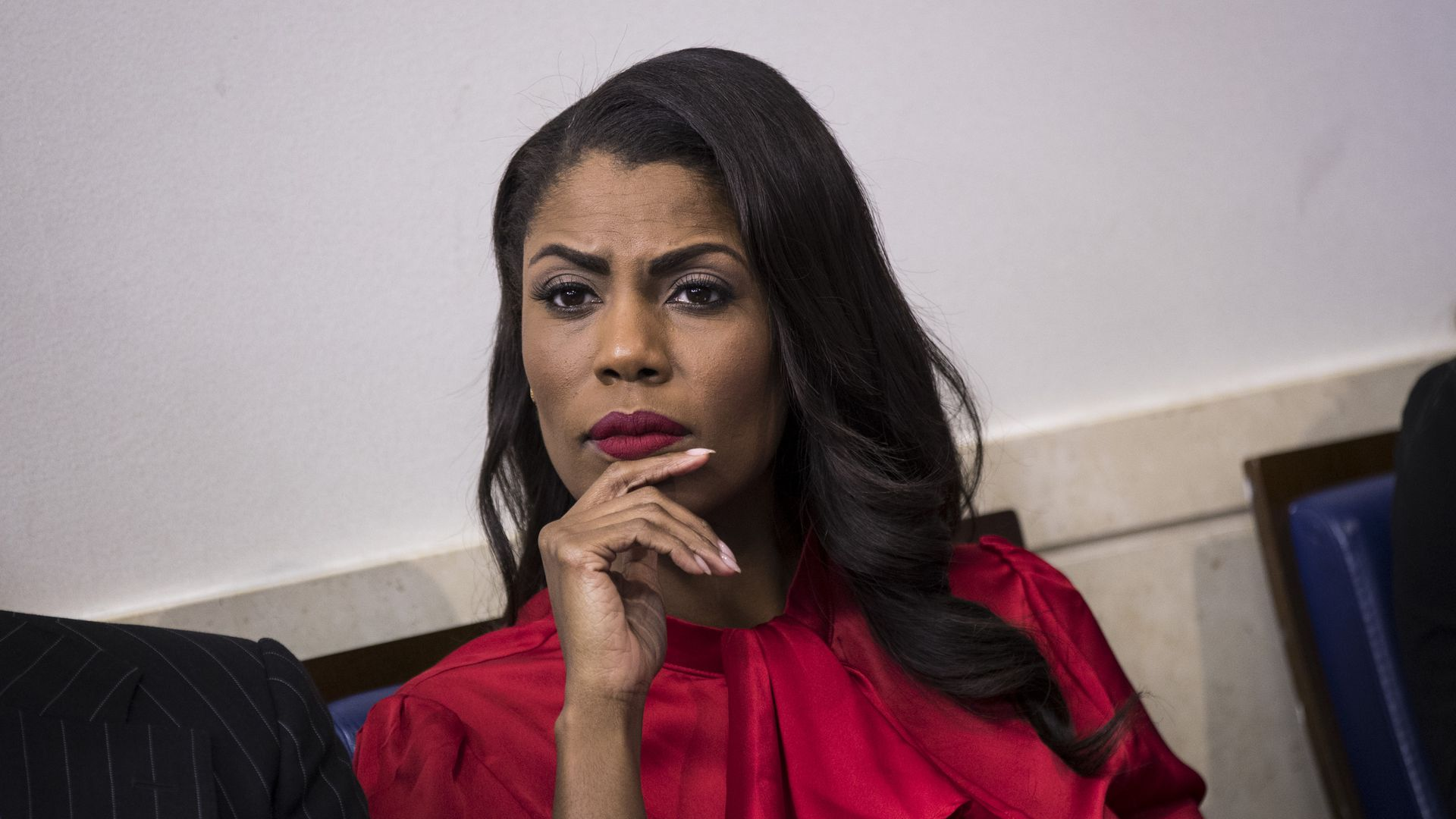 Omarosa listens to WH daily press briefing