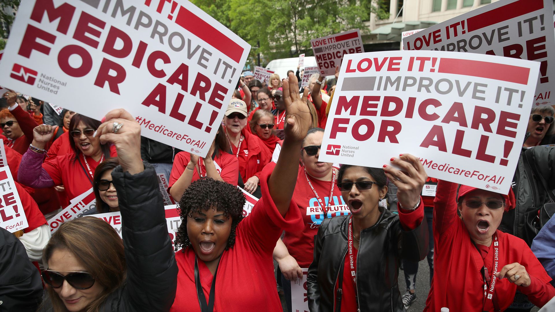 Protestors for medicare for all