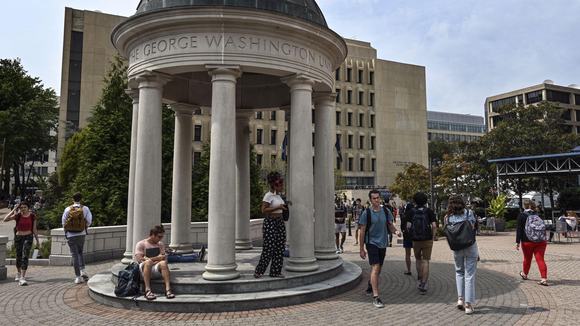 Students at George Washington University