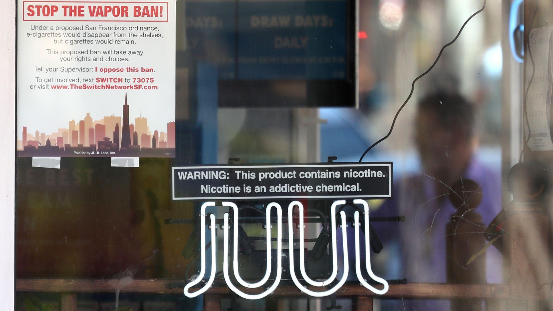JUUL sign