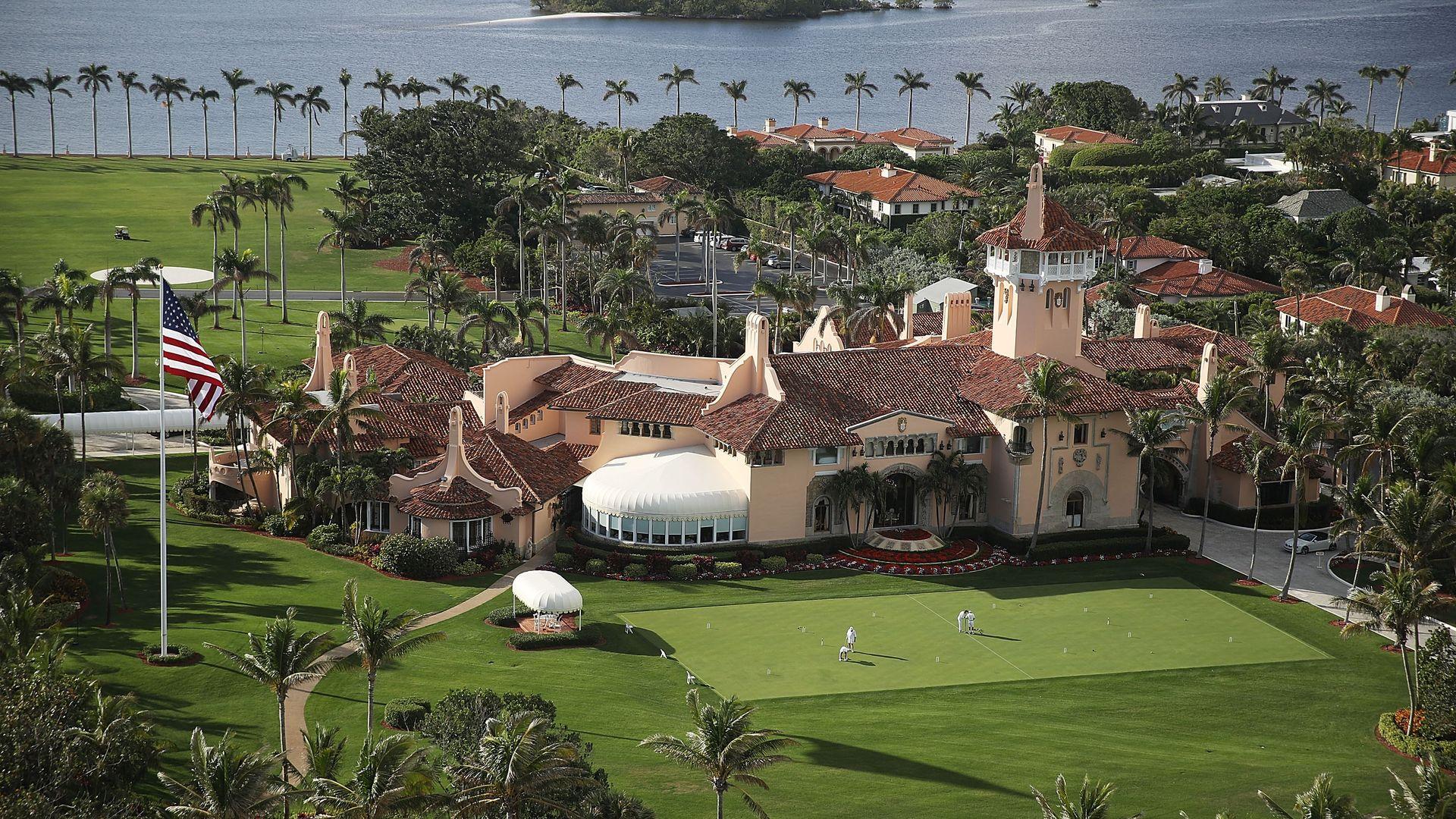 PresidentTrump's beach front Mar-a-Lago resort in Palm Beach, Florida. Photo: Joe Raedle/Getty Images