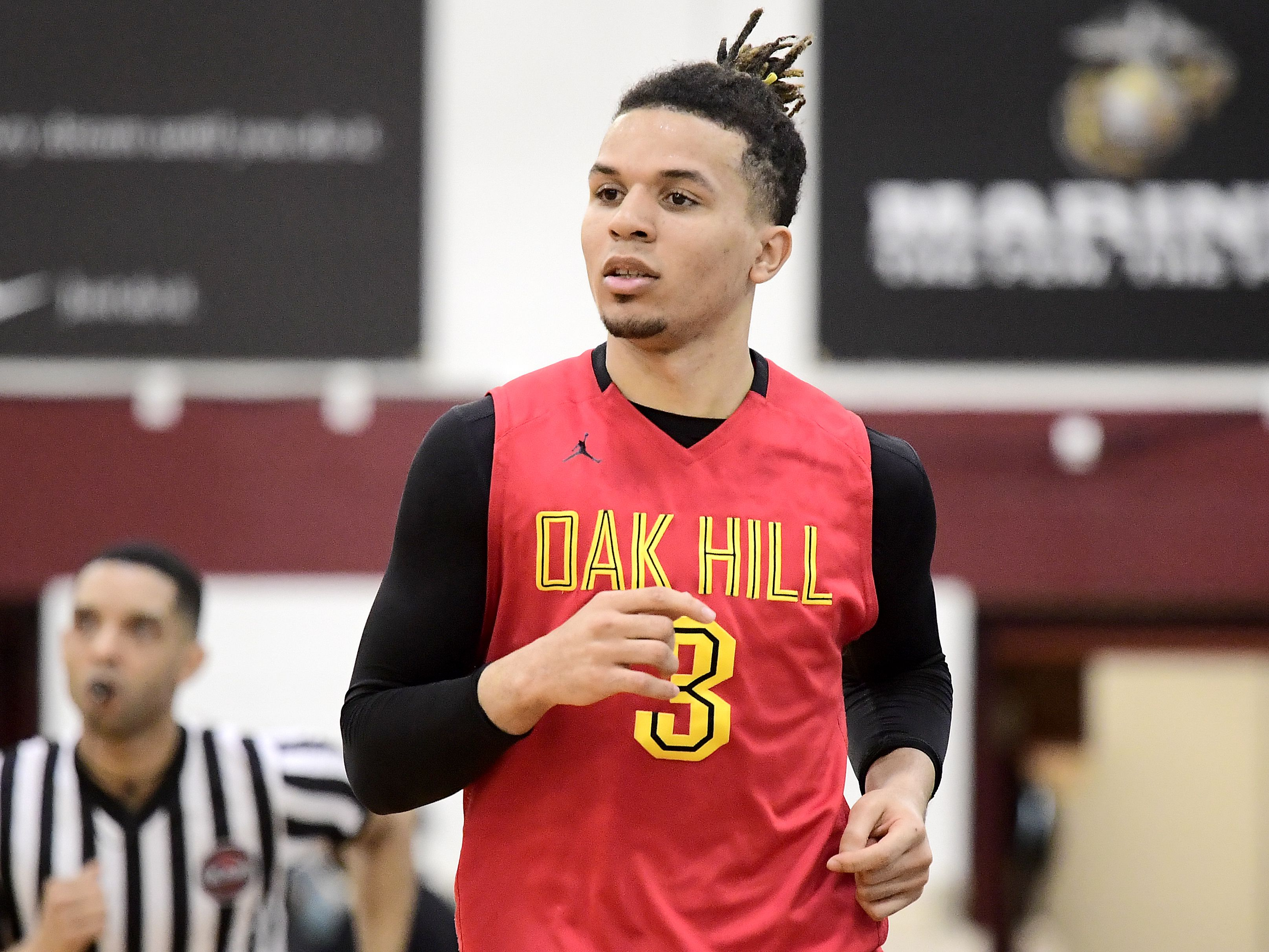 Cole Anthony in his Oak Hill uniform