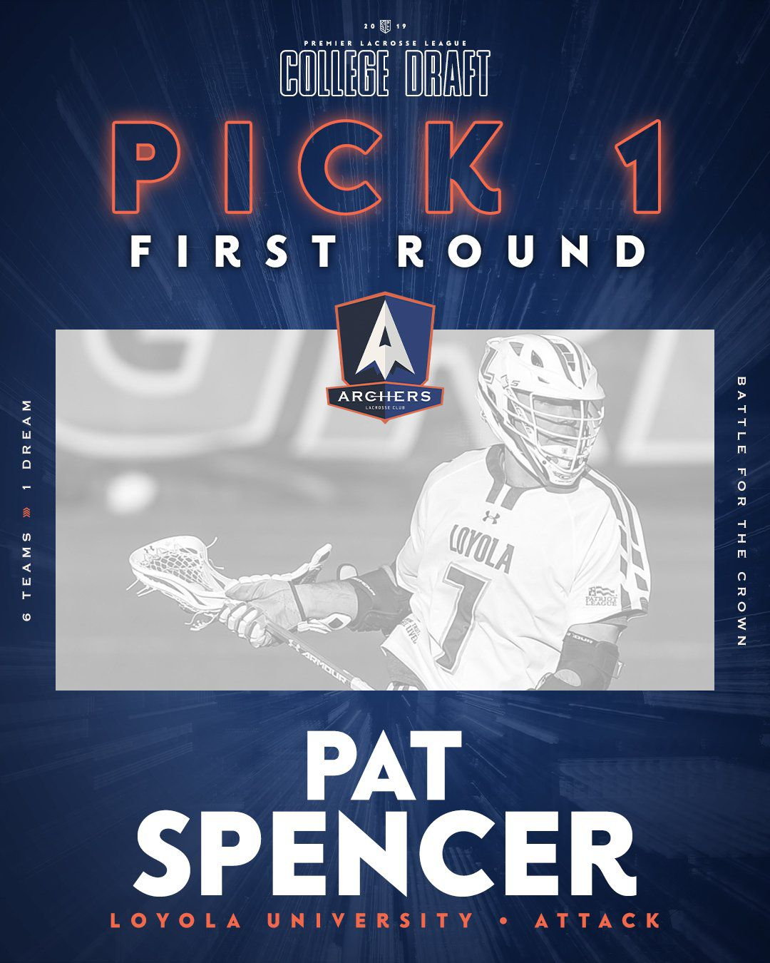 Pat Spencer's draft selection page