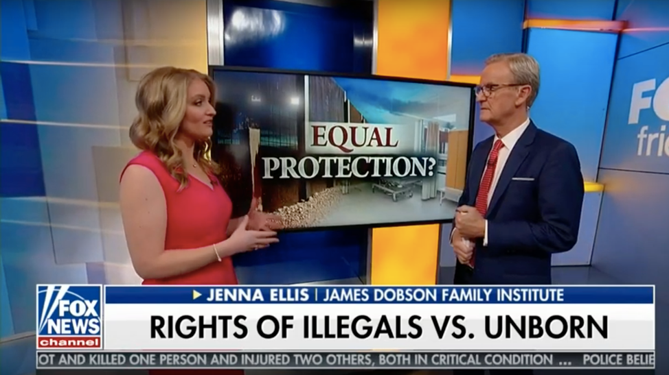 Screen shot of Jenna Ellis on Fox News