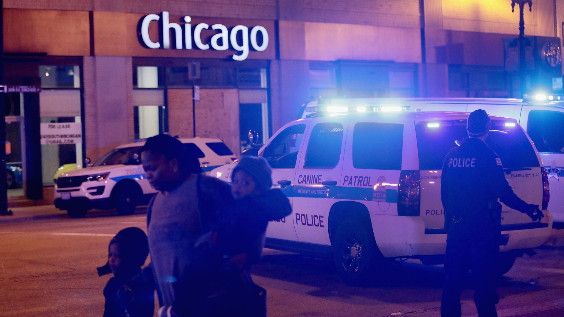 Police secure the scene near Mercy Hospital after a gunman opened fire on November 19, 2018 in Chicago, Illinois