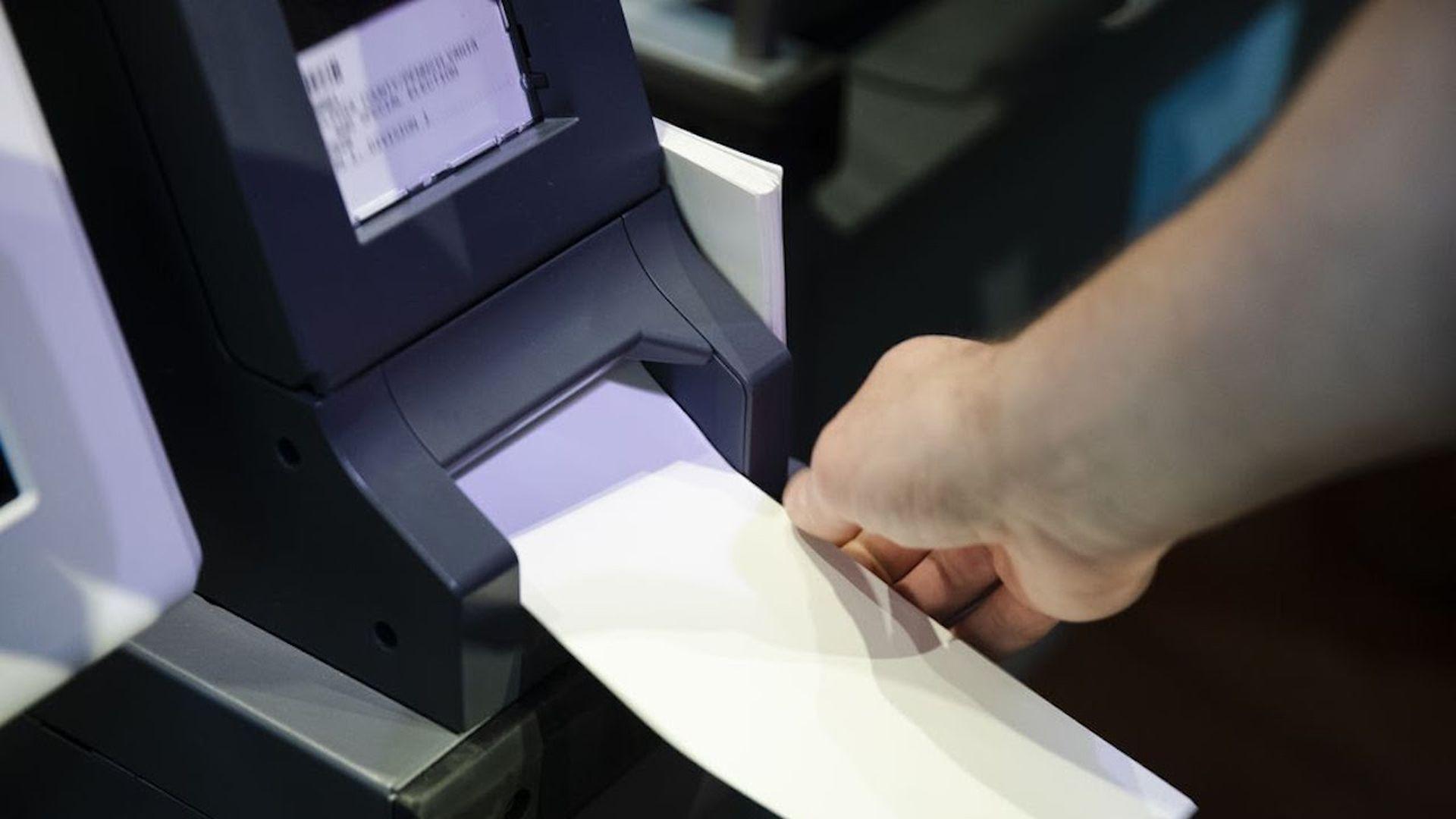 Voting machine with older software