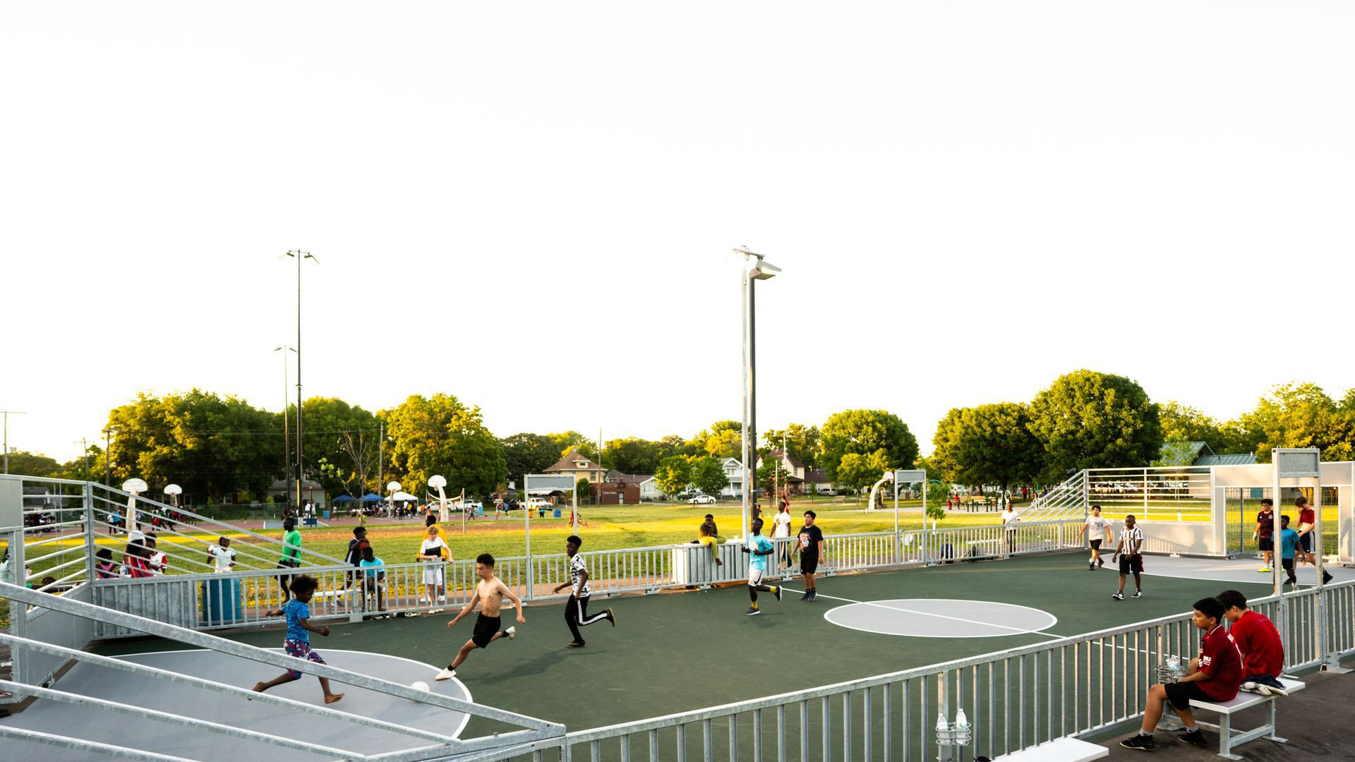 The new futsal mini-pitch at a park in Des Moines.