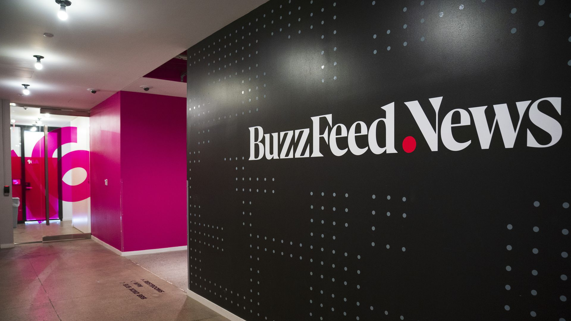 Inside BuzzFeed headquarters in New York City.