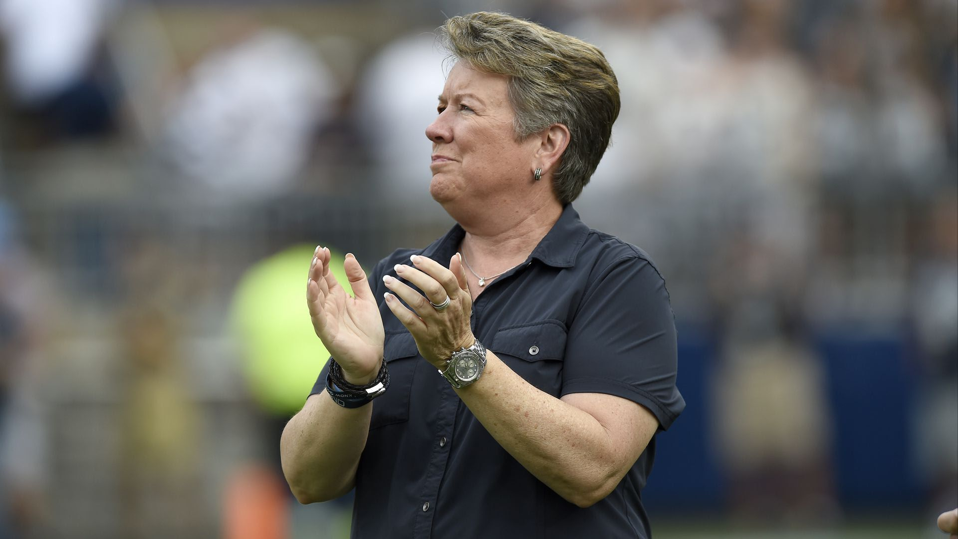 """Penn State AD Anne Saunders """"Sandy"""" Barbour"""