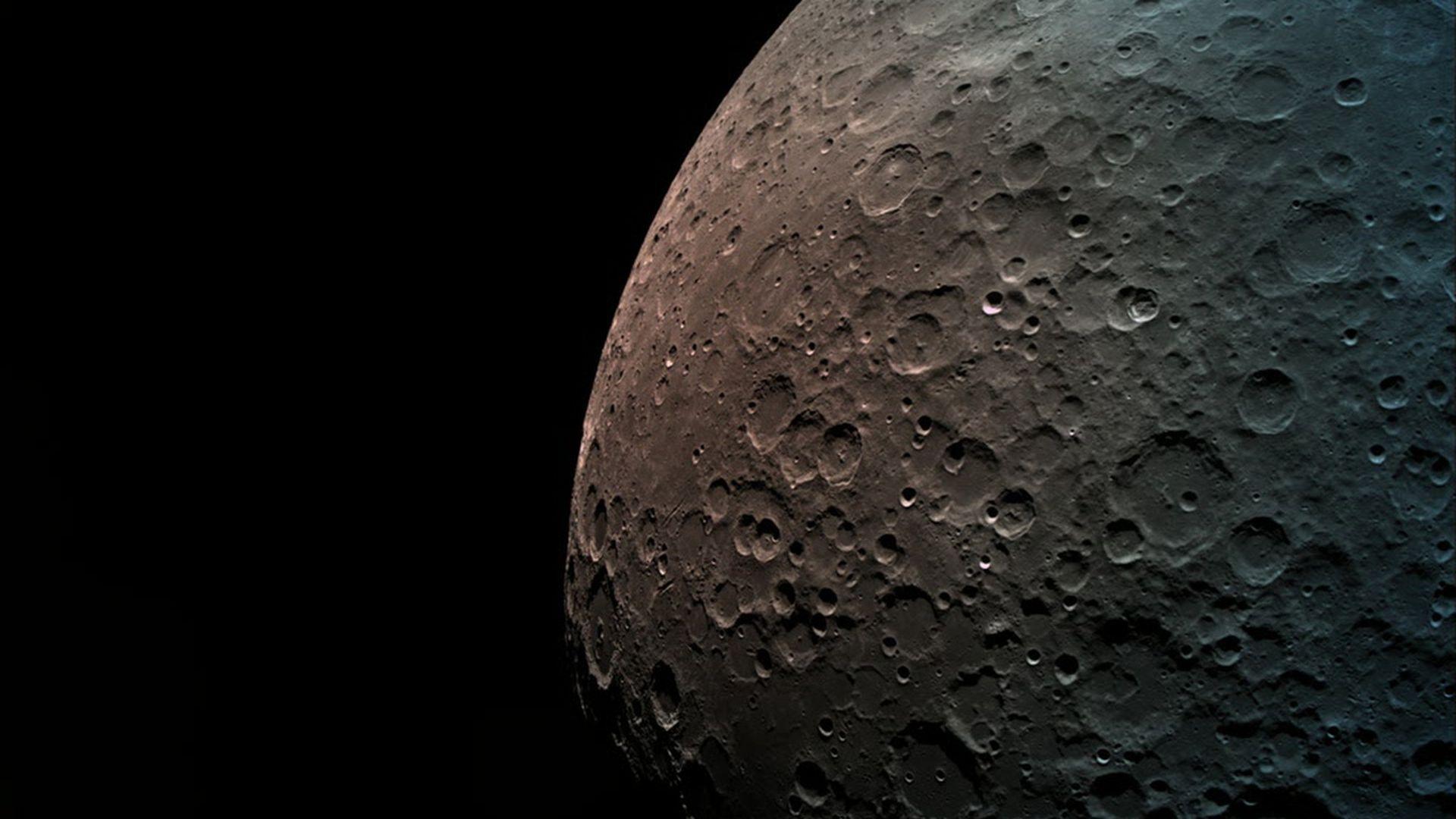 The moon as seen by Israel's Beresheet lander.