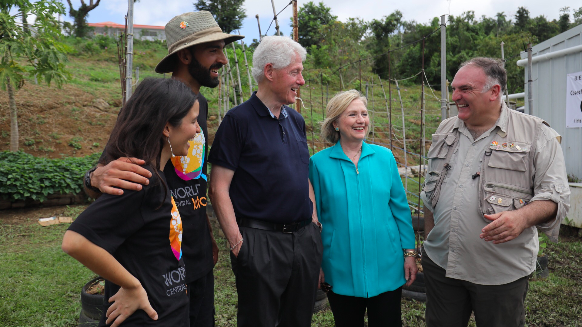 The Clintons with Jose Andres