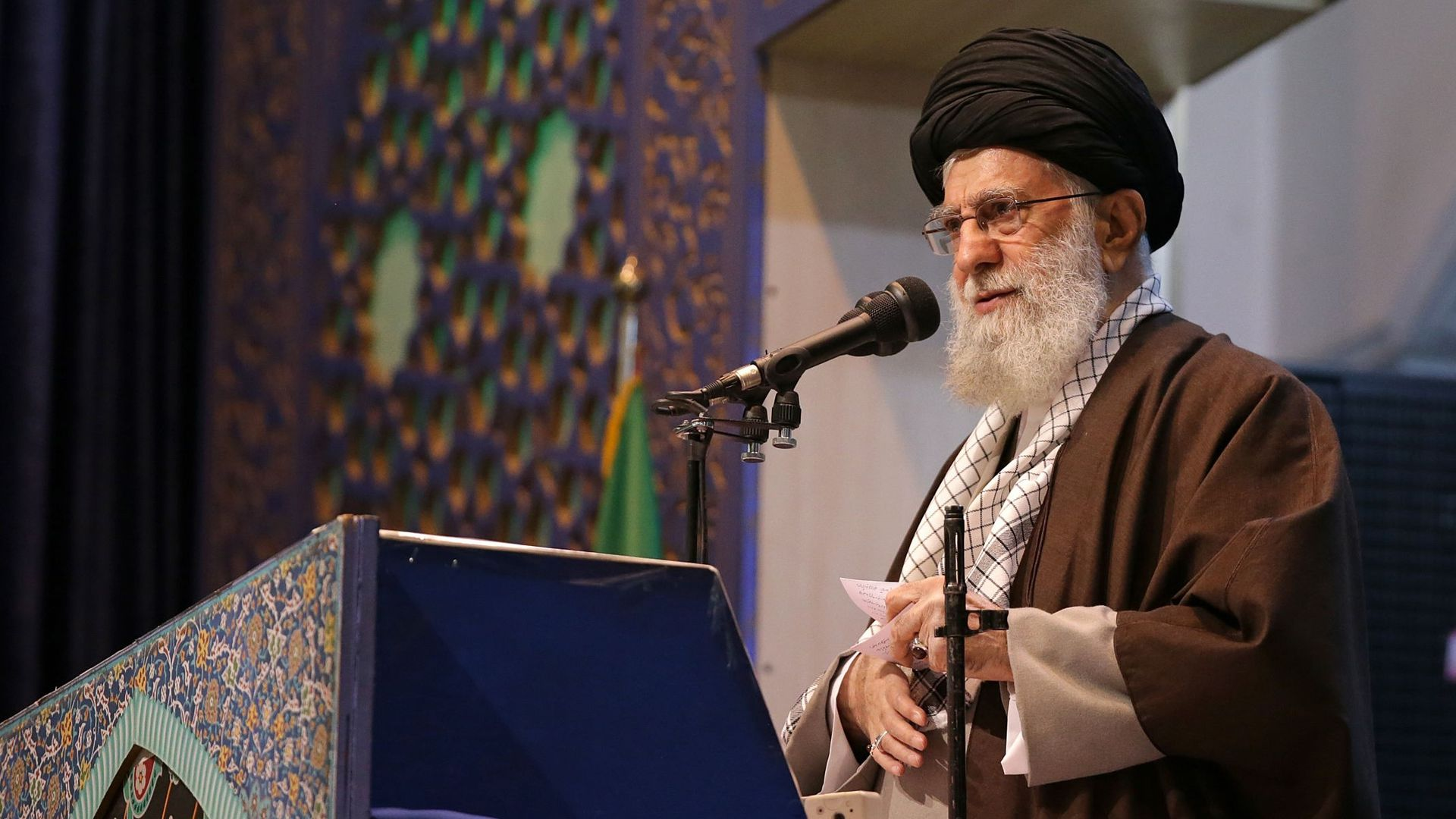 "Iran's supreme leader blasts ""clown"" Trump in rare public sermon"