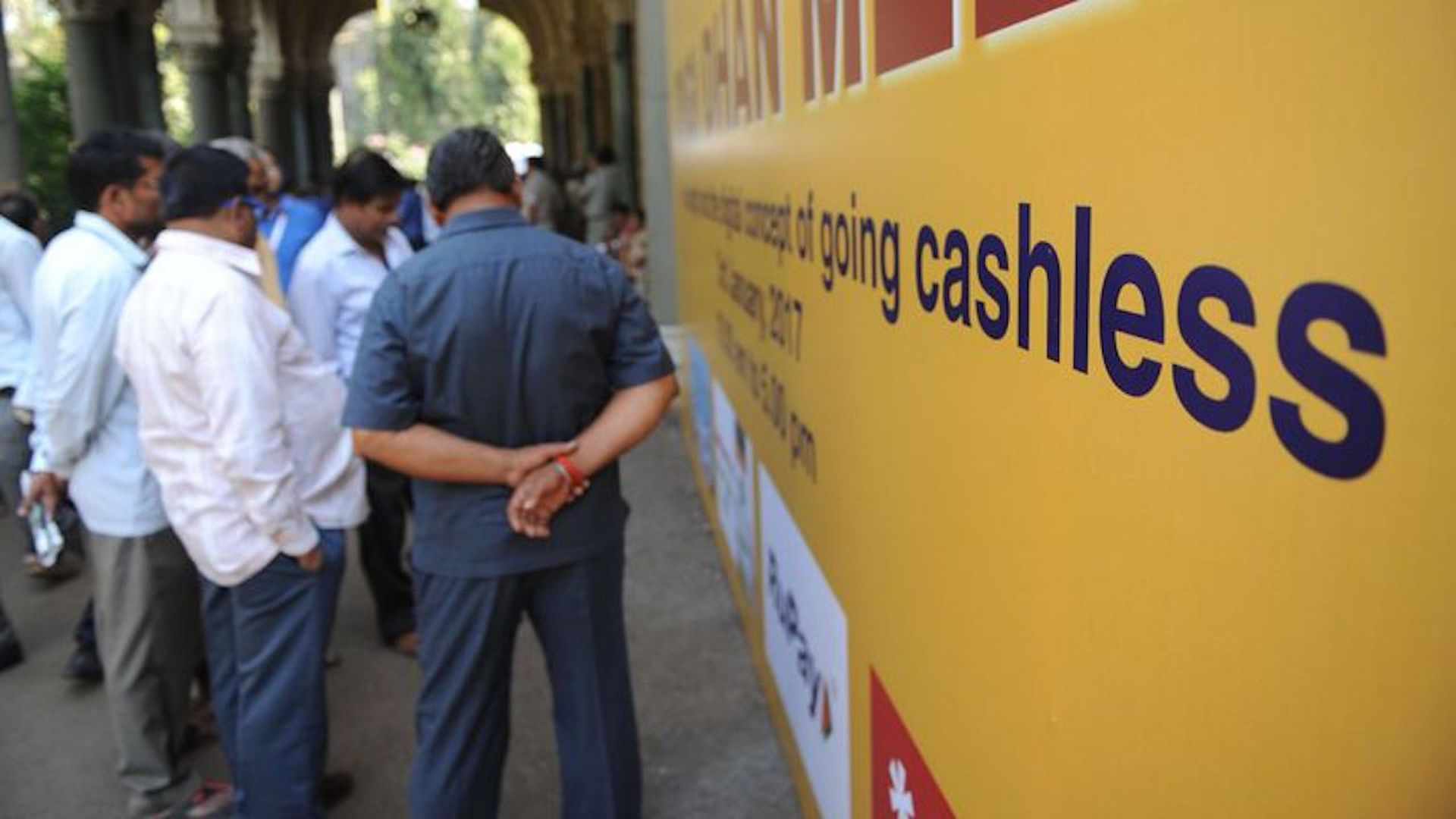 A billboard promoting e-payments in Mumbai