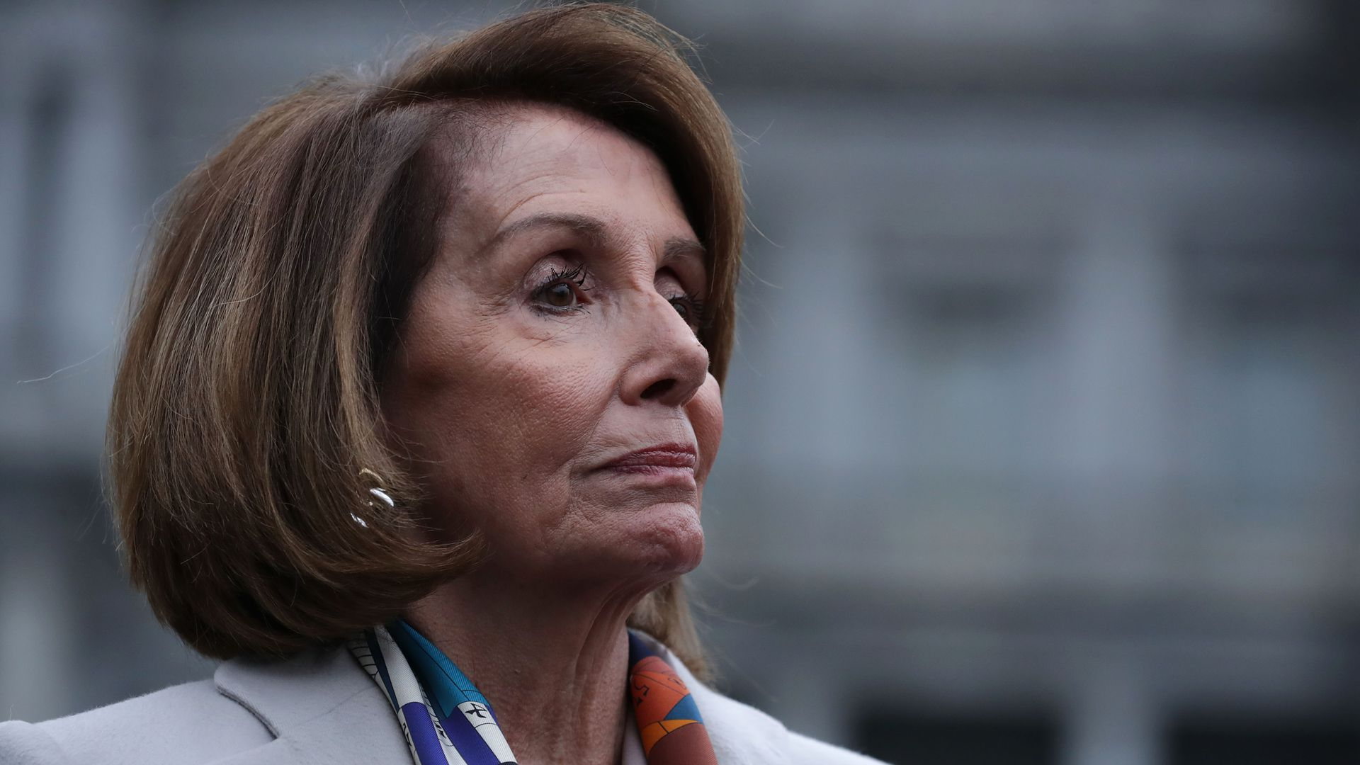 Nancy Pelosi looks regal.