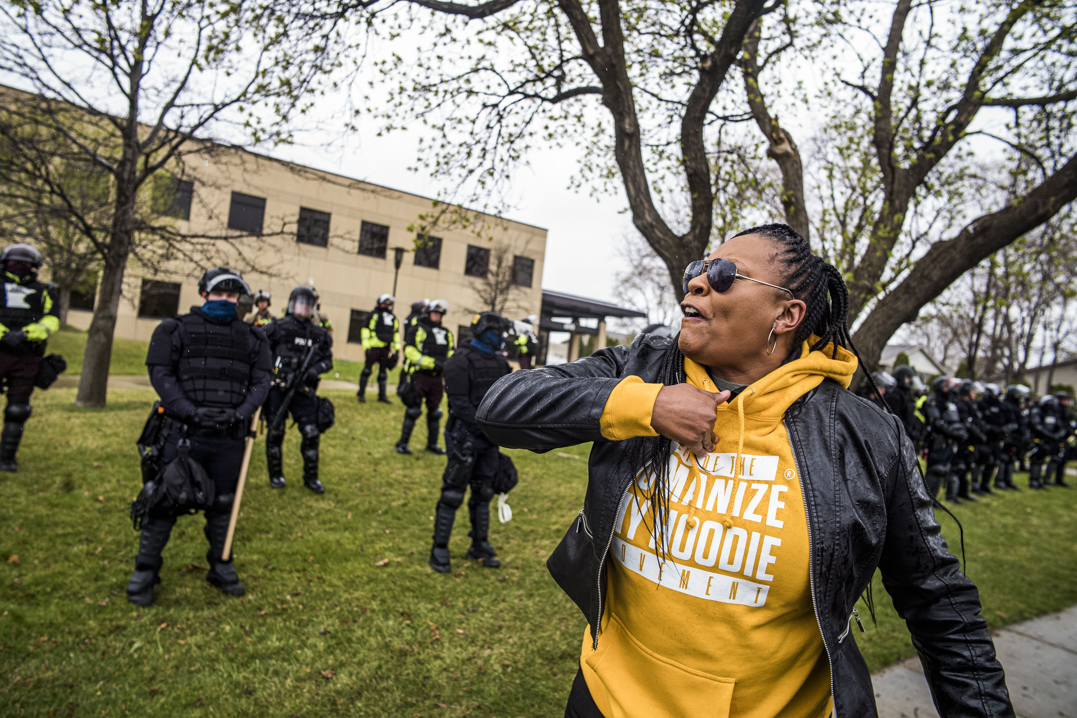 """In Brooklyn Center on March 12, 2021, """"the system criminalizes Black people,"""" says Lawanda Warren who says her special needs child has had a gun drawn on him."""