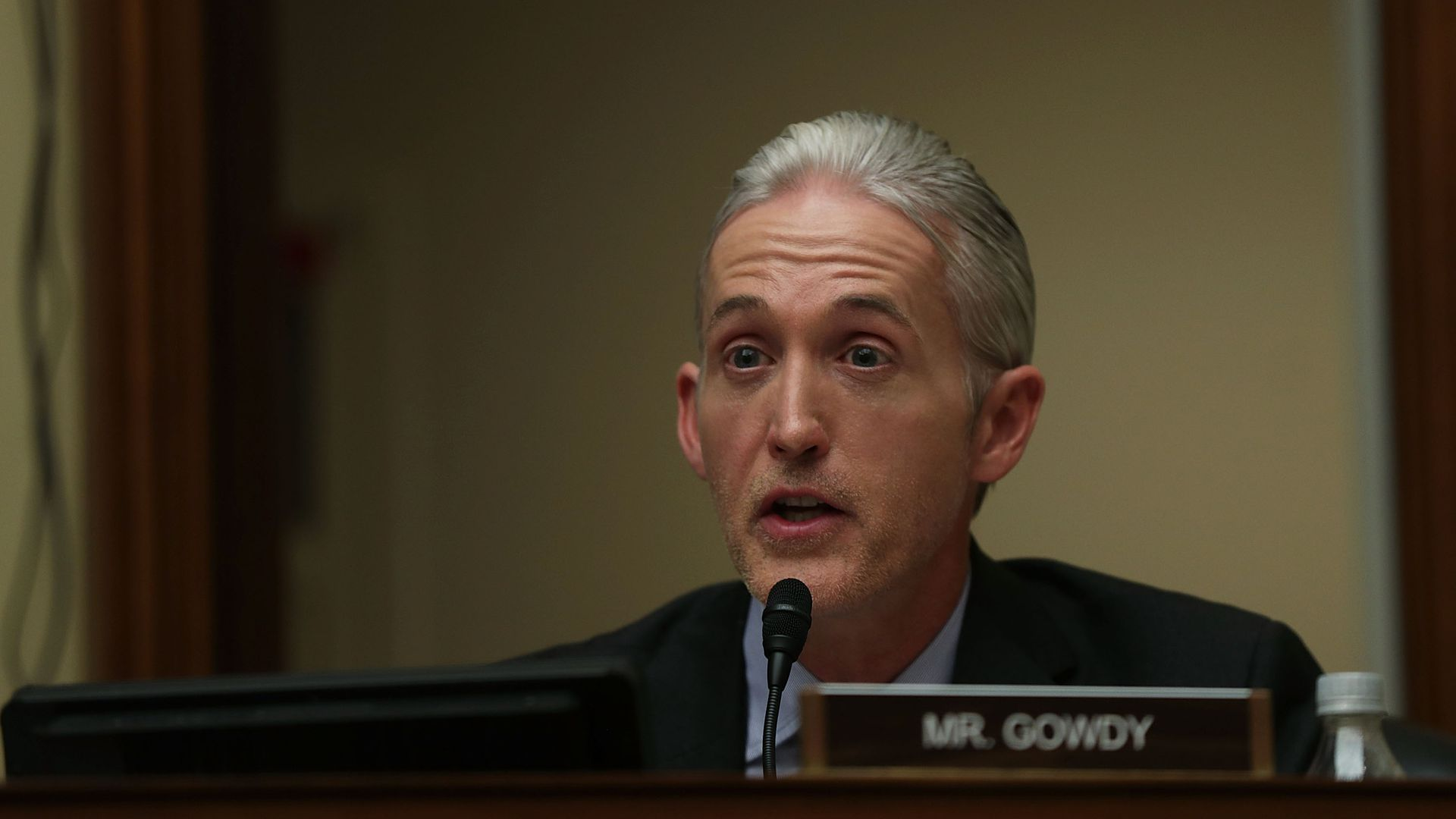 Rep. Trey Gowdy (R-SC) speaks during a hearing before House Oversight and Government Reform Committee.