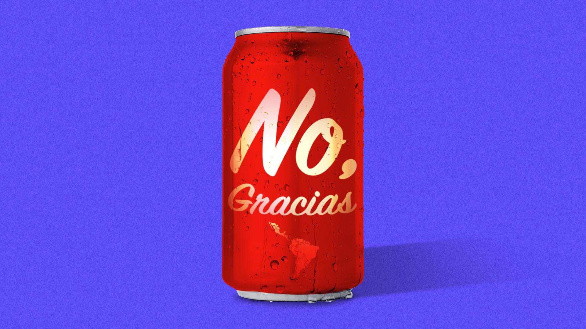 """Illustration of a soda can that reads """"no, gracias"""""""