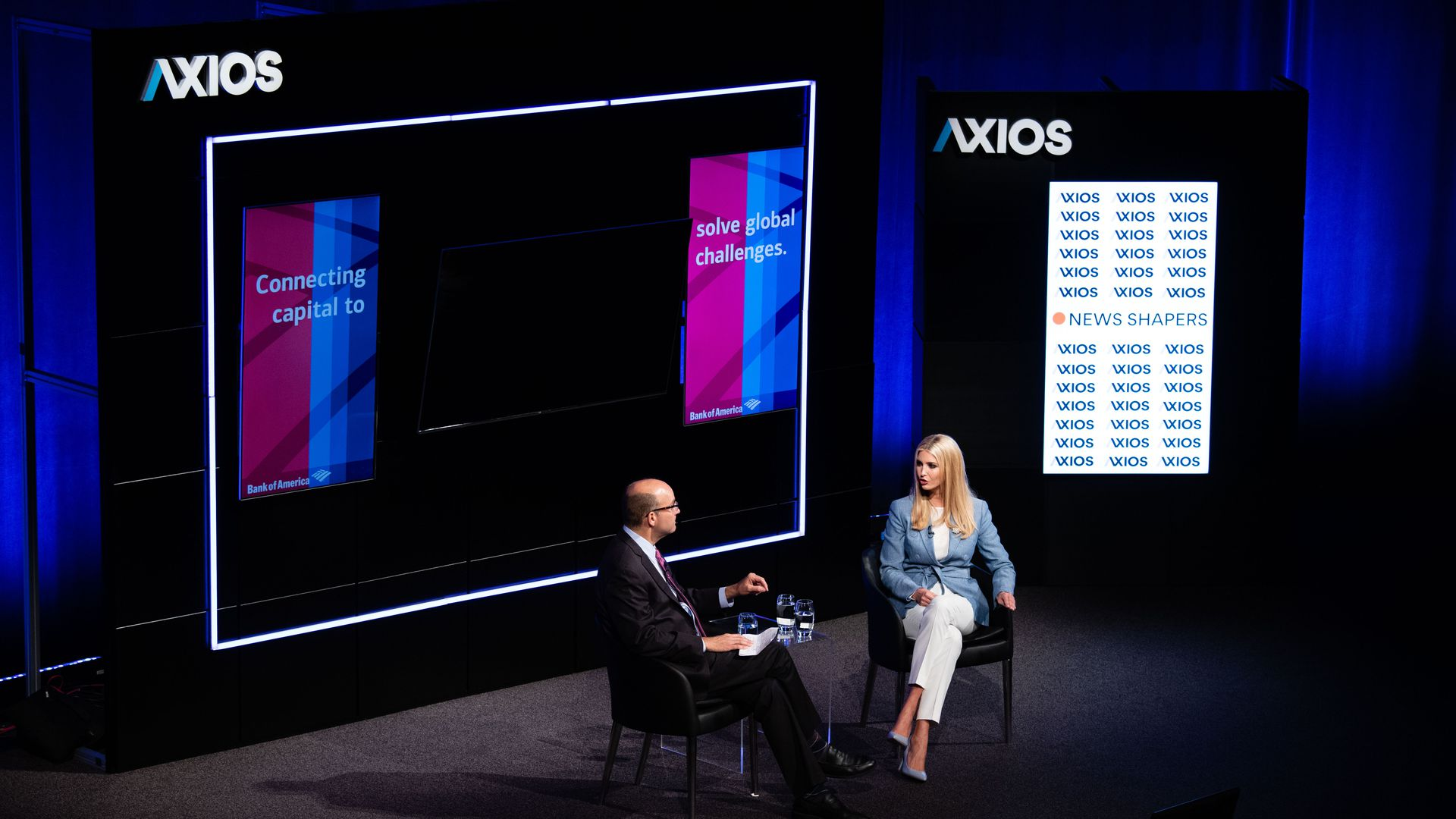 Ivanka Trump and Mike Allen at Axios event