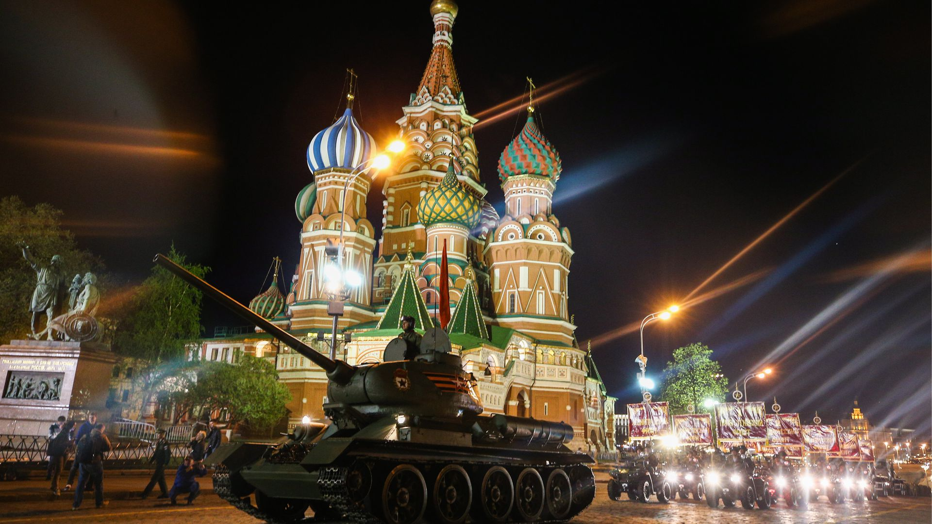 Tank in front of the Kremlin