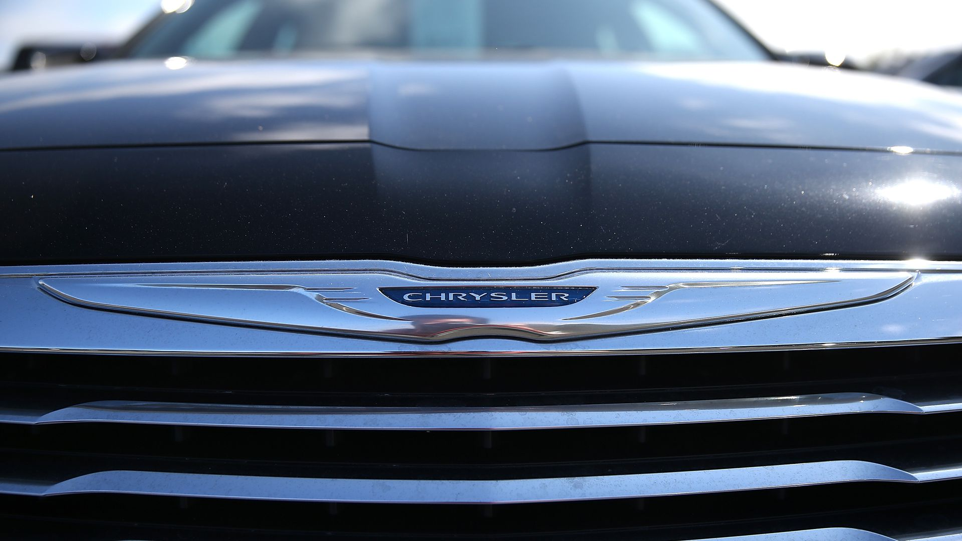 Chrysler SUV grill.