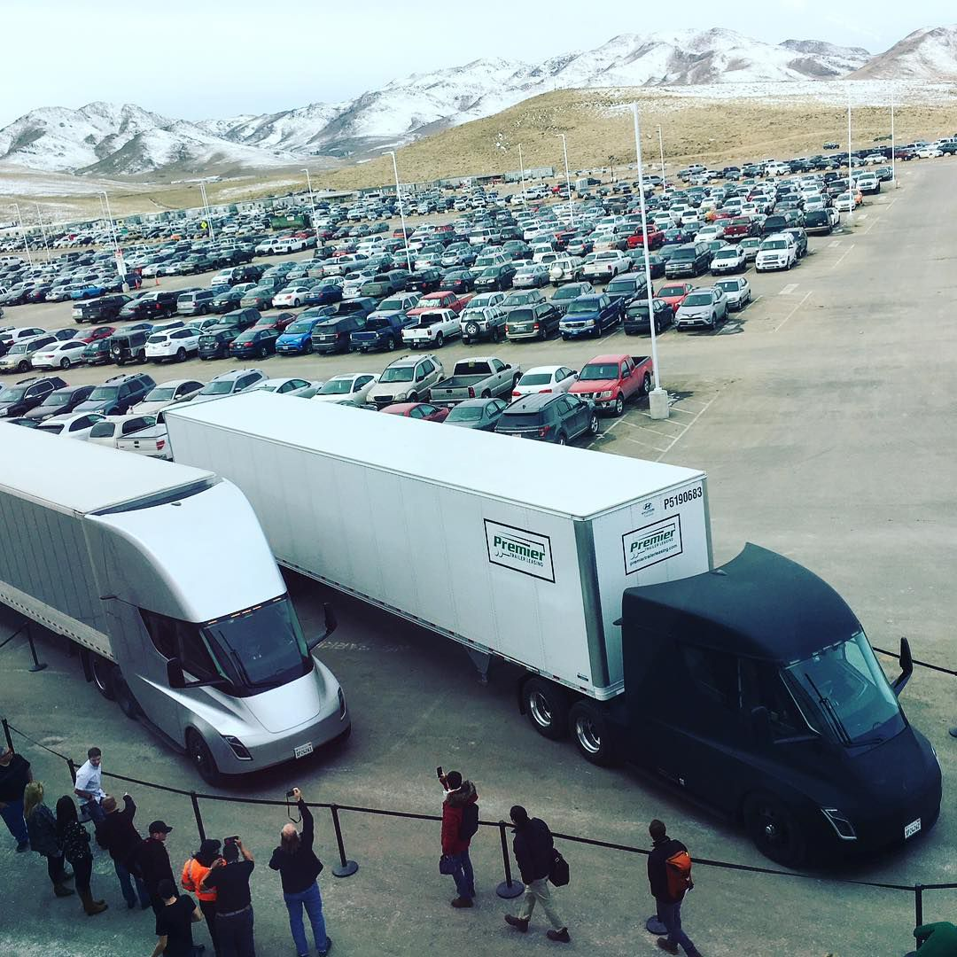 Photo of Tesla's electric truck