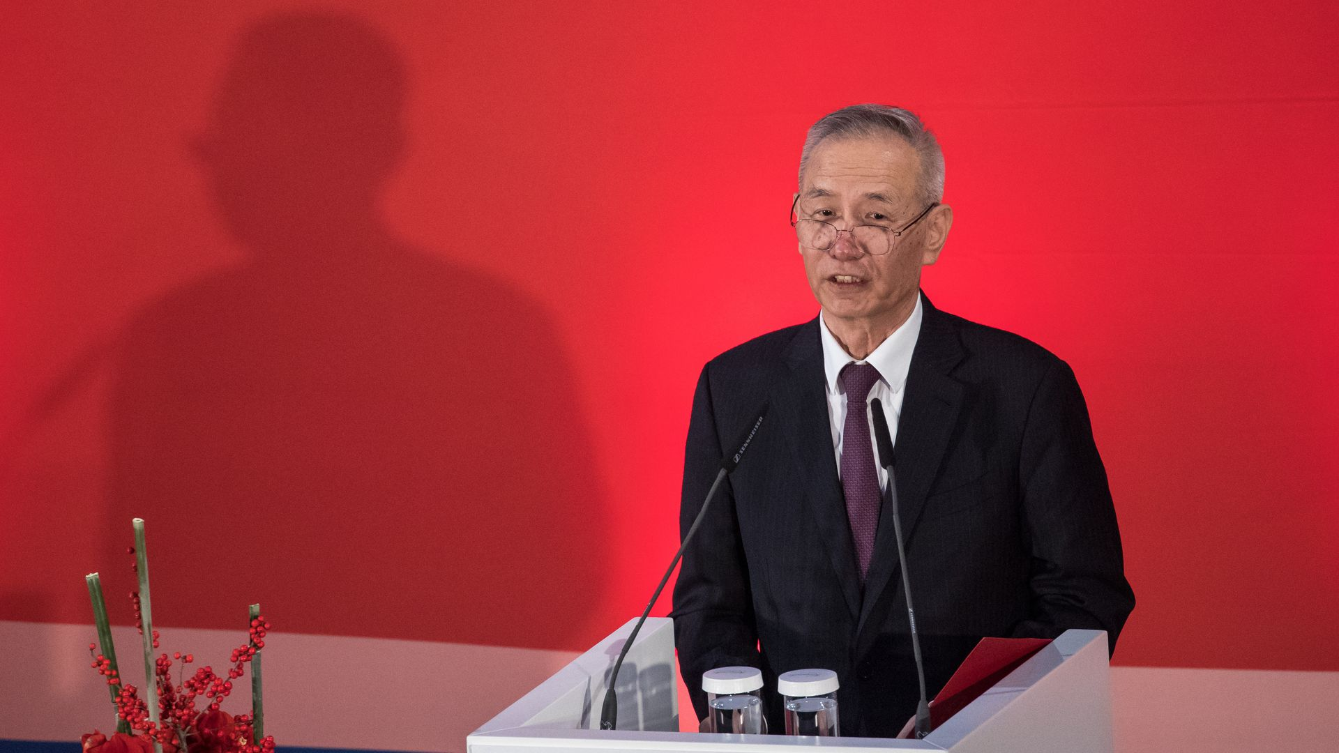 Liu He, Deputy Prime Minister of the People's Republic of China, speaks at the conference 'The Hamburg Summit