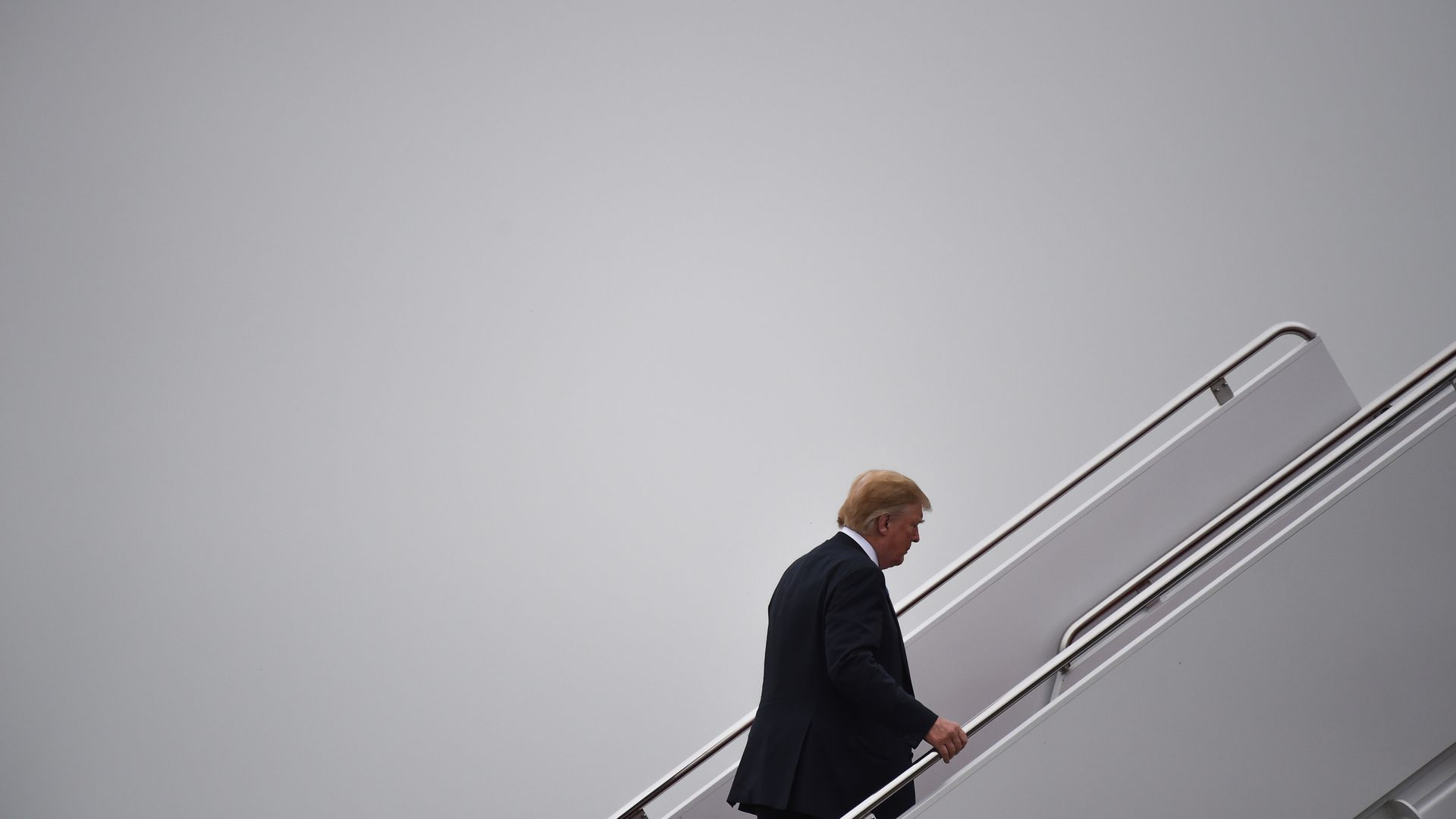President Trump walks to Air Force one before departing from Joint Andrews Airforce base, Maryland on June 23, 2018.