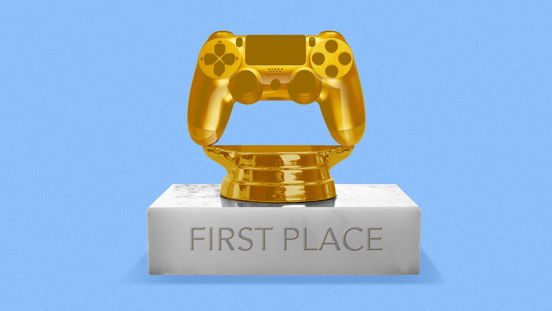 Trophy of a video game controller