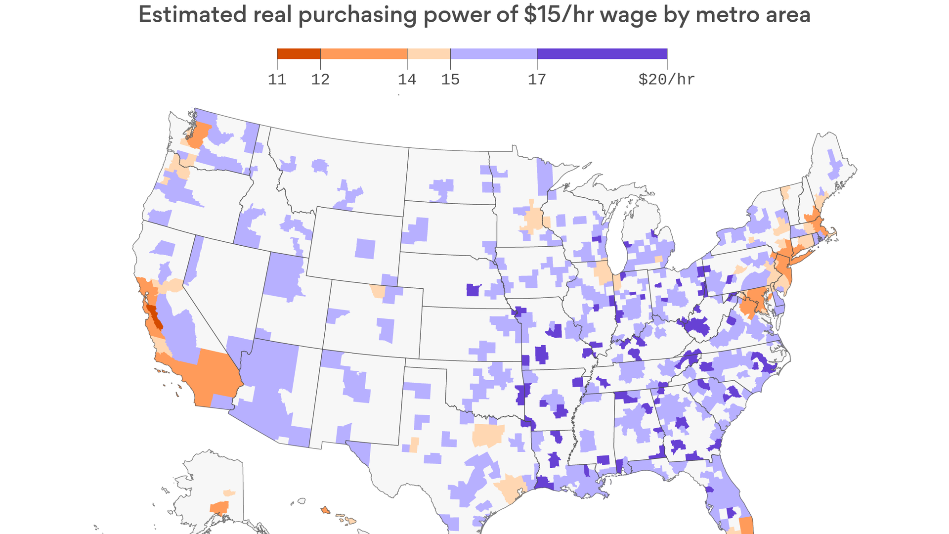 8cea55fd72d Map: Cost of living comparison for U.S. cities - Axios