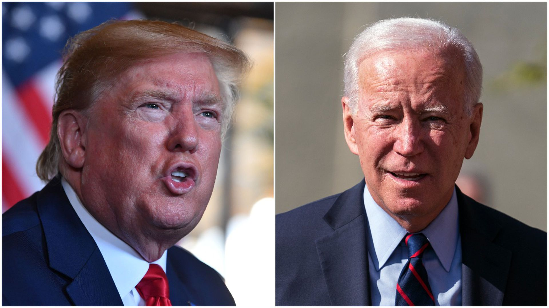 President Trump and former Vice President Joe Biden