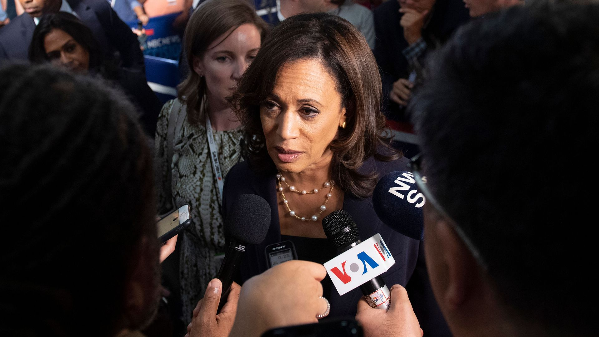 Sen. Kamala Harris after the Democratic primary debates on Thursday