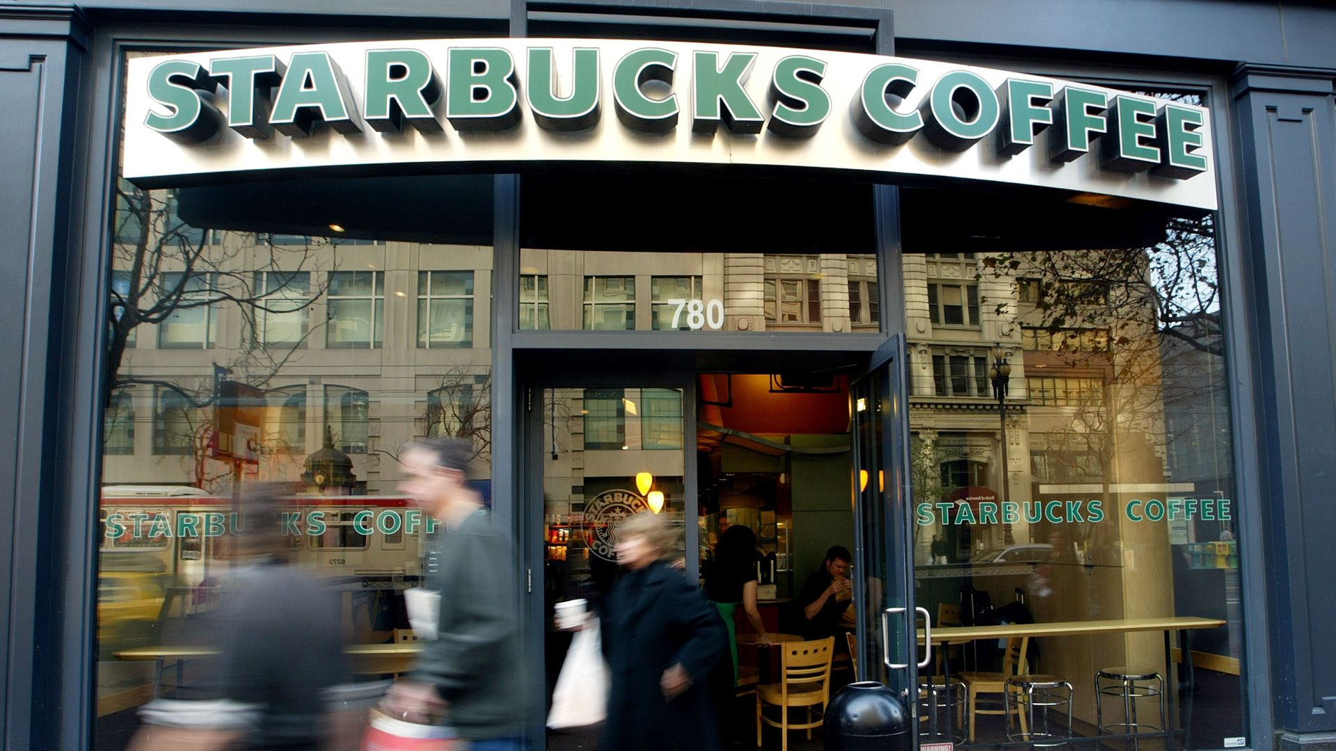 A Starbucks coffee shop in San Francisco, California. Photo: Justin Sullivan/Getty Images