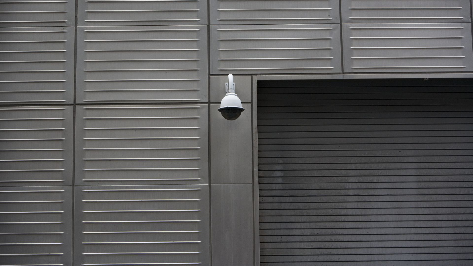 Photo of a surveillance camera on a wall