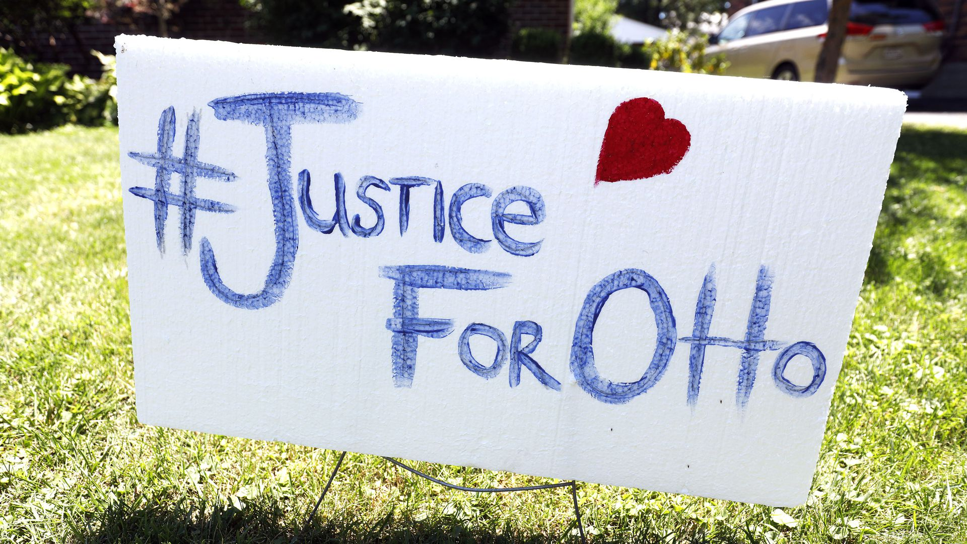 Justice for Otto sign