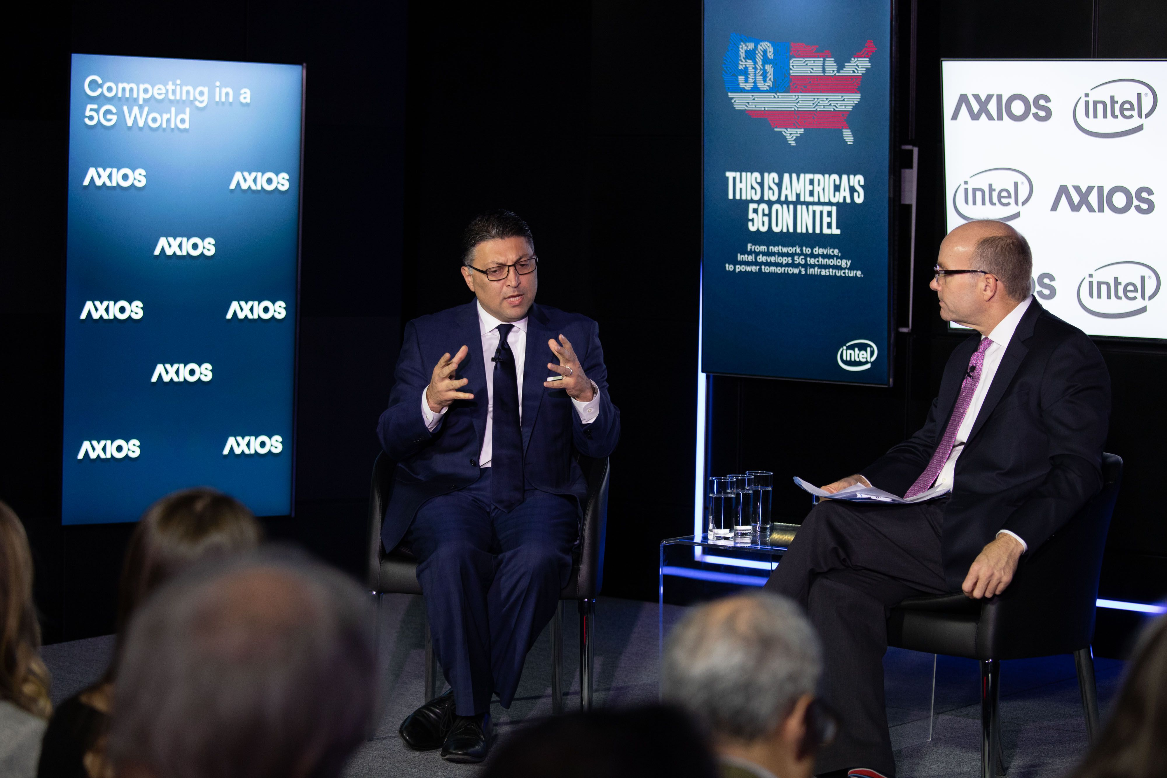 Antitrust Chief Makan Delrahim and Mike Allen on the Axios stage