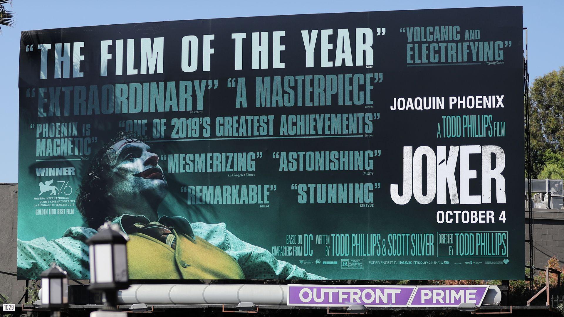 """A billboard for """"Joker"""""""