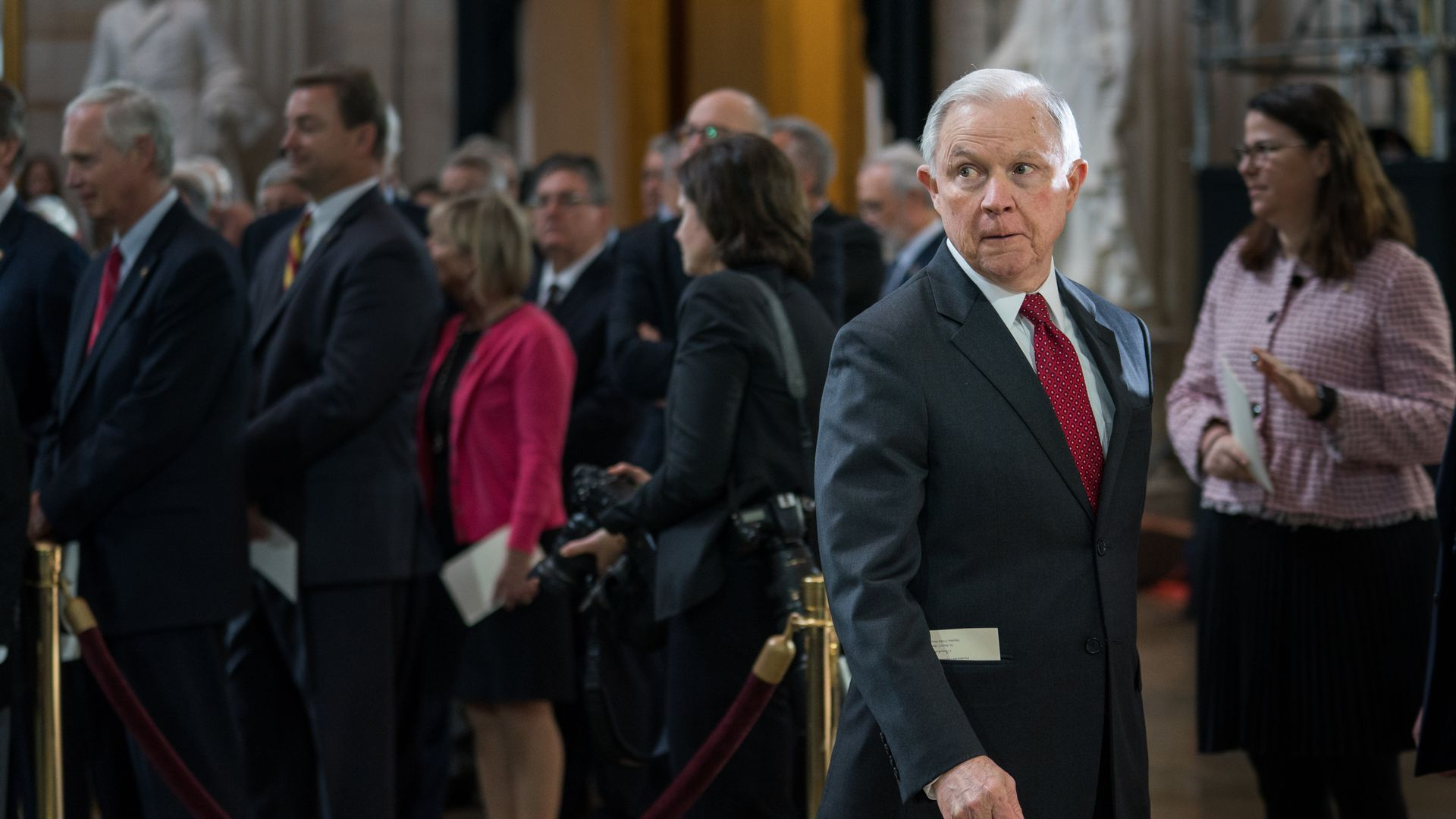Jeff Sessions walking