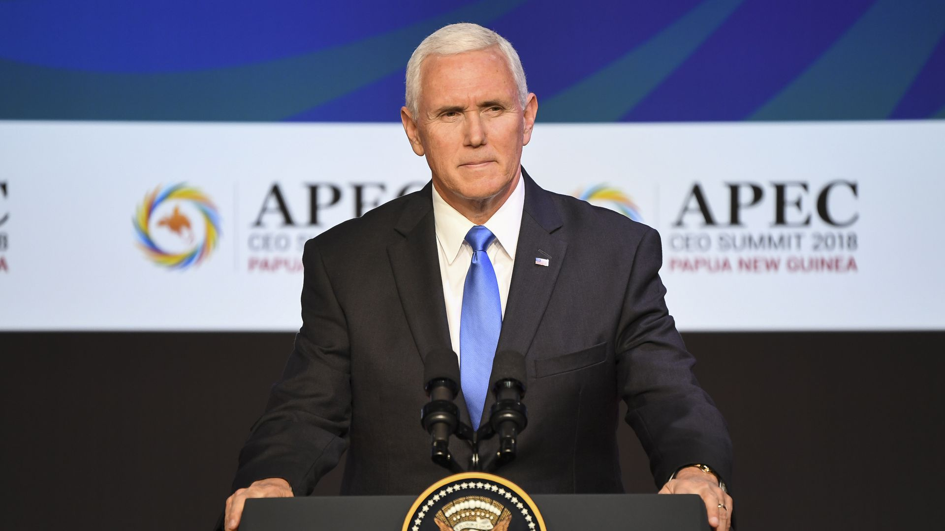 Mike Pence at a podium
