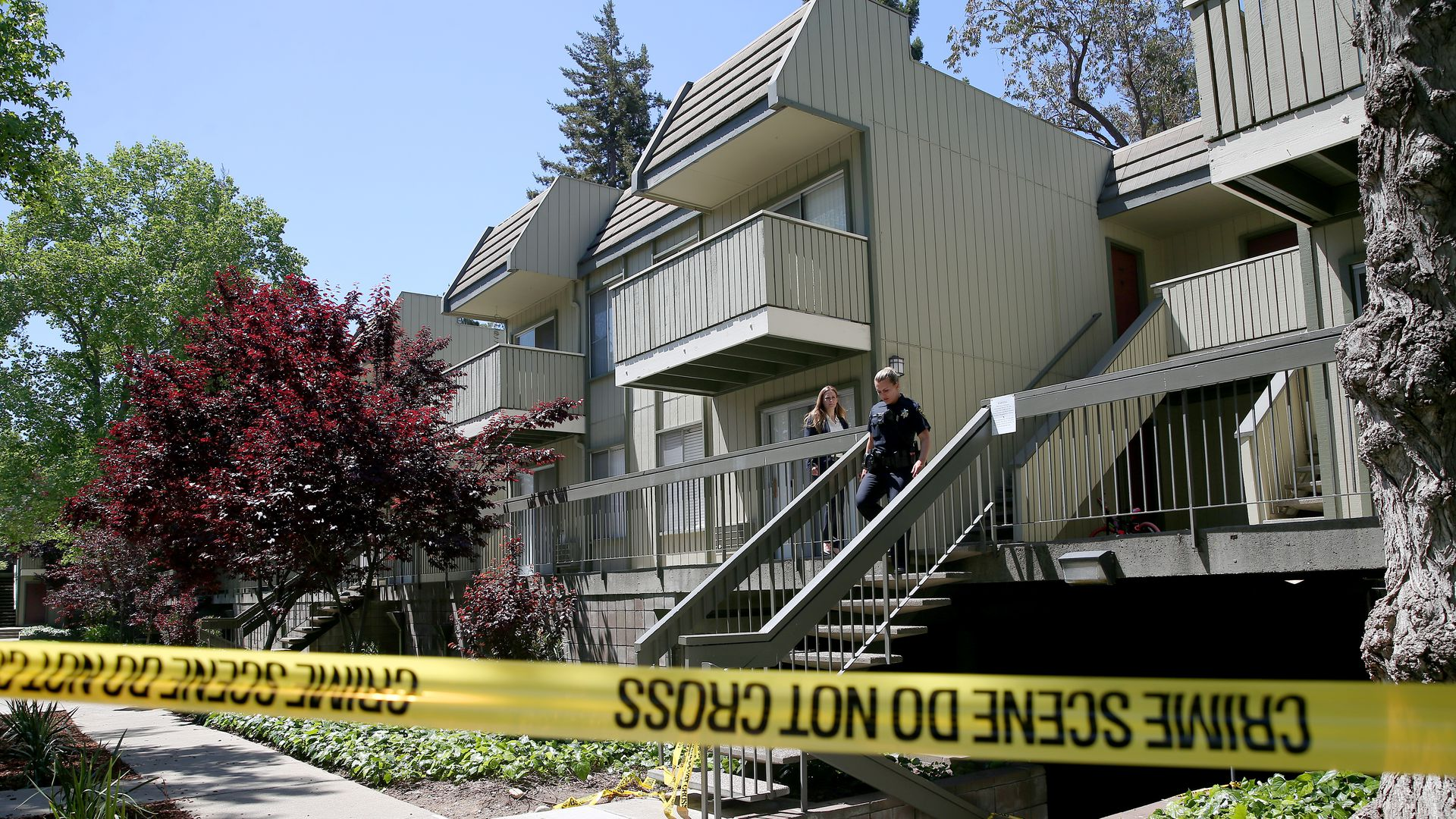 Lincoln Glen apartments in Sunnyvale, California, where Army veteran Isaiah J. Peoples lives.