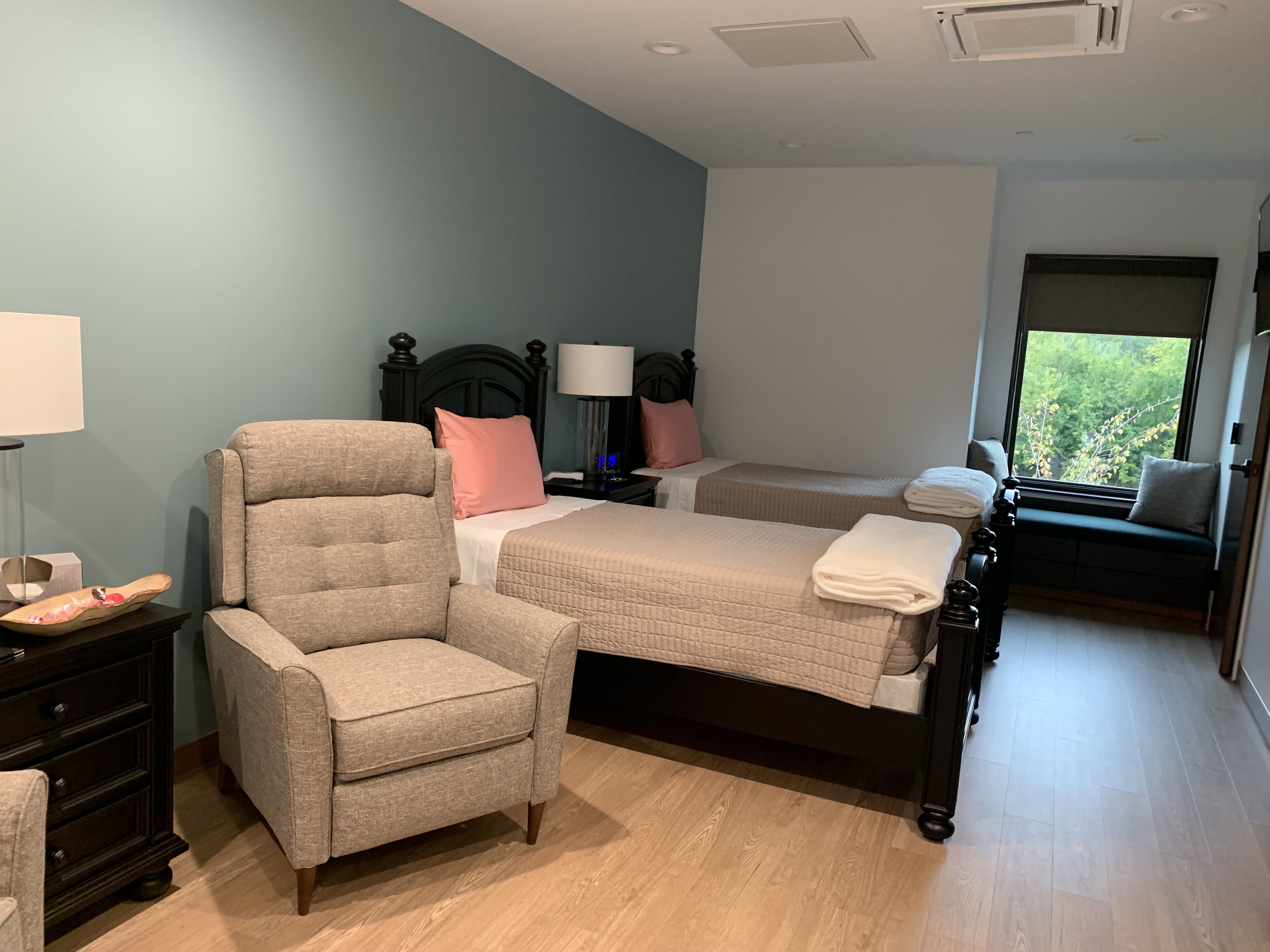 photo of room inside cancer support home