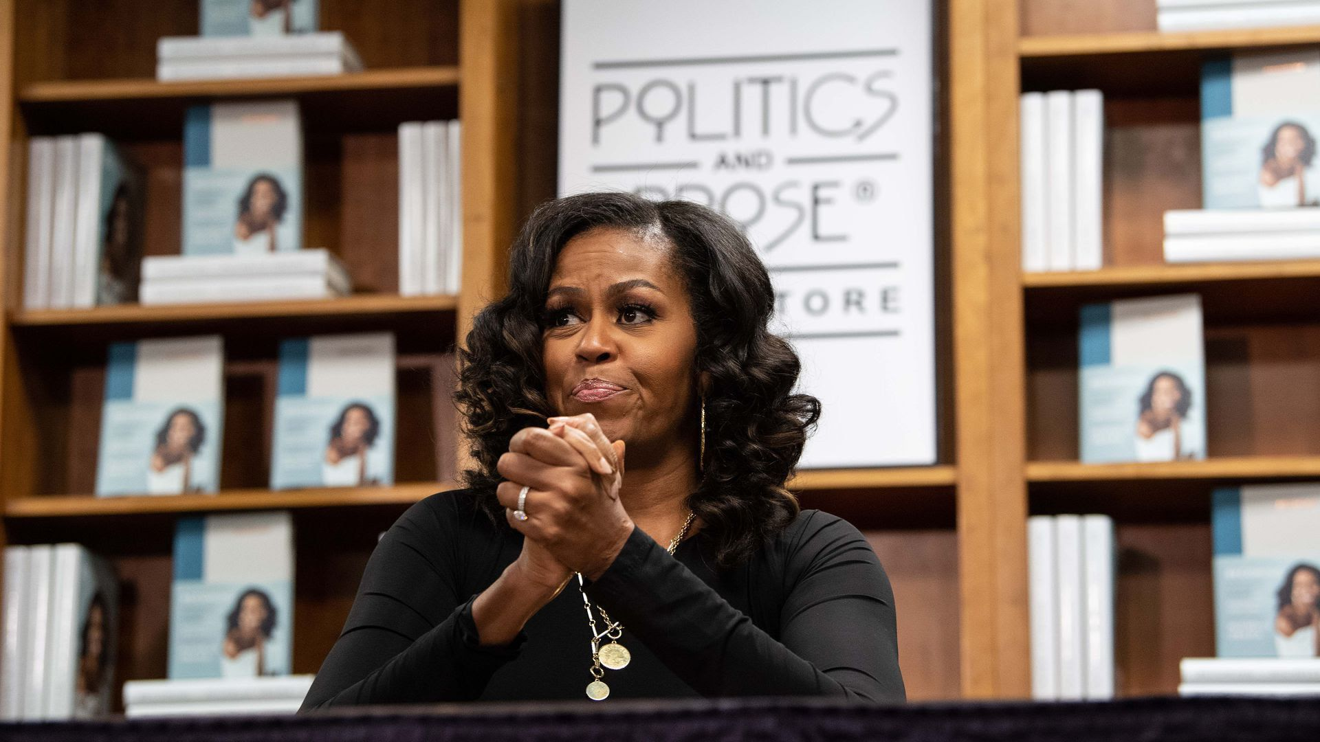 "Michelle Obama's memoir ""Becoming"" will spend a year on the New York Times bestseller list"