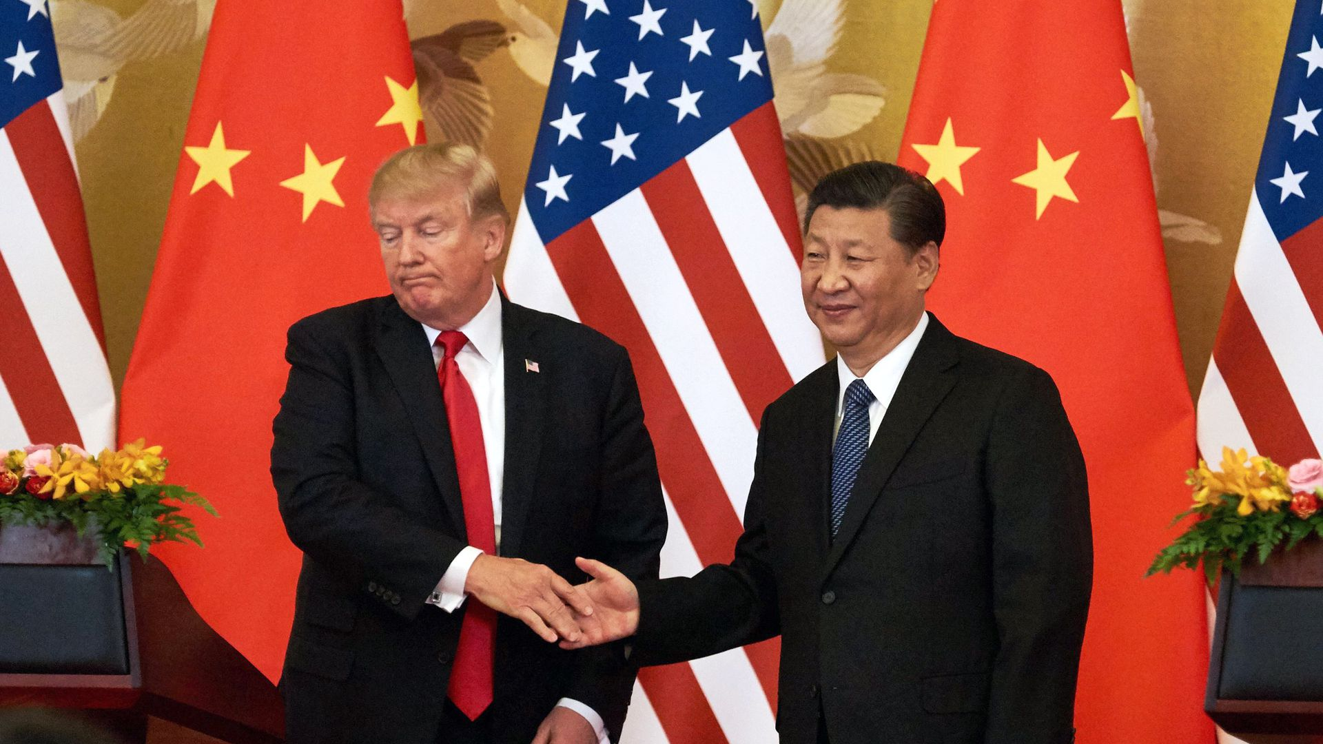 Trump and China's Xi.